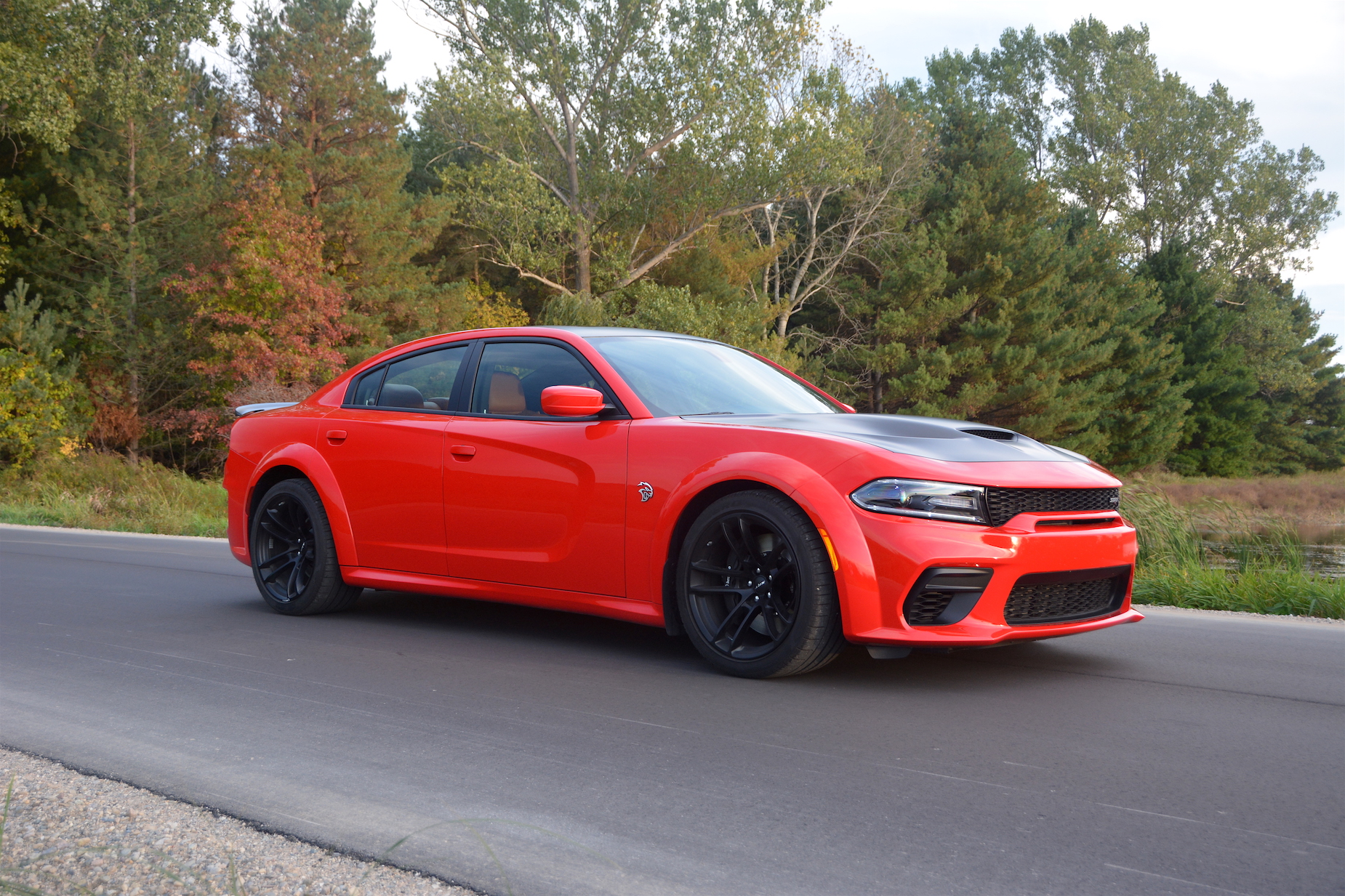 Orange Dodge Charger SRT Hellcat Widebody
