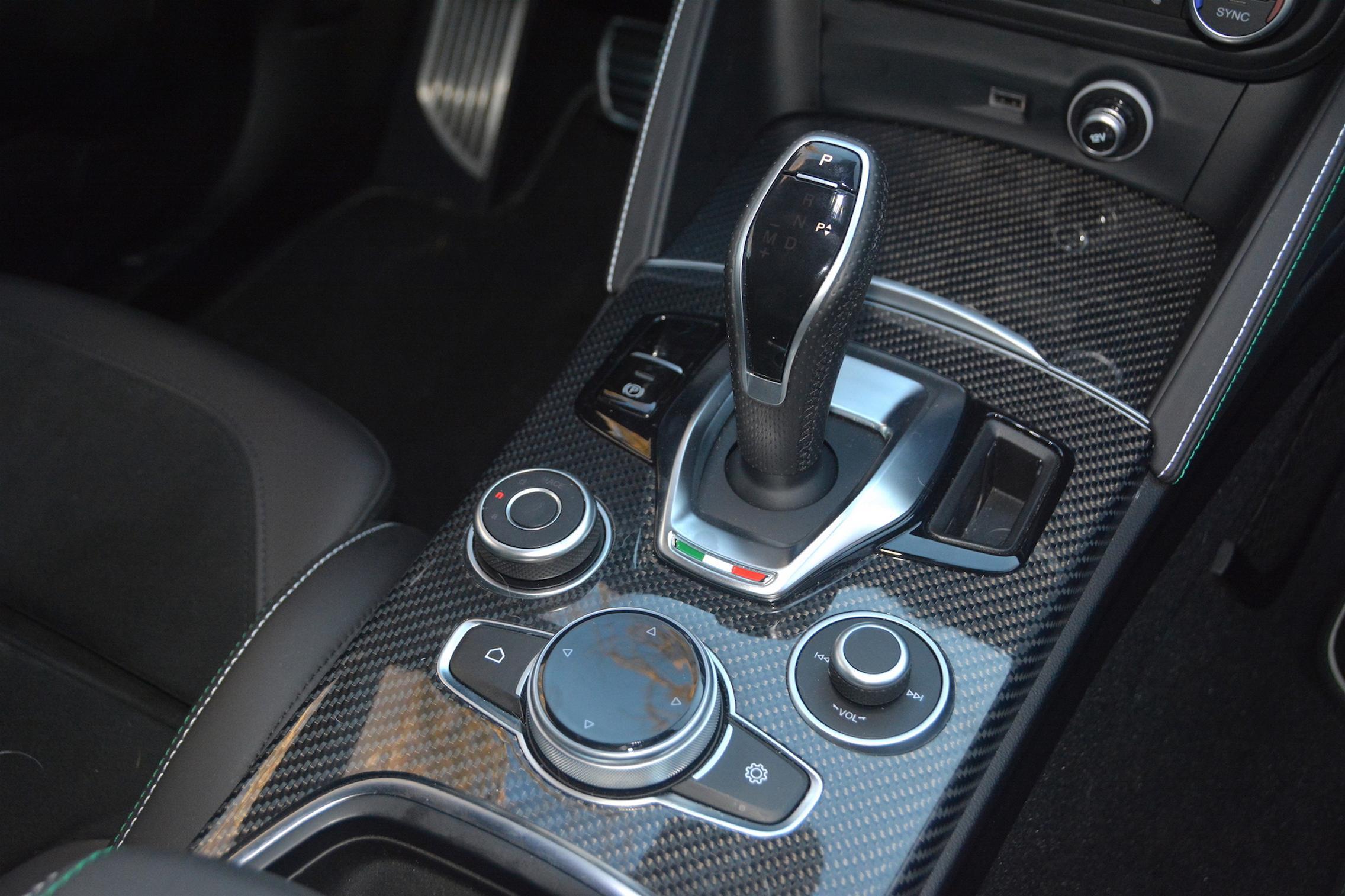 Alfa Romeo Stelvio QV Gear Selector