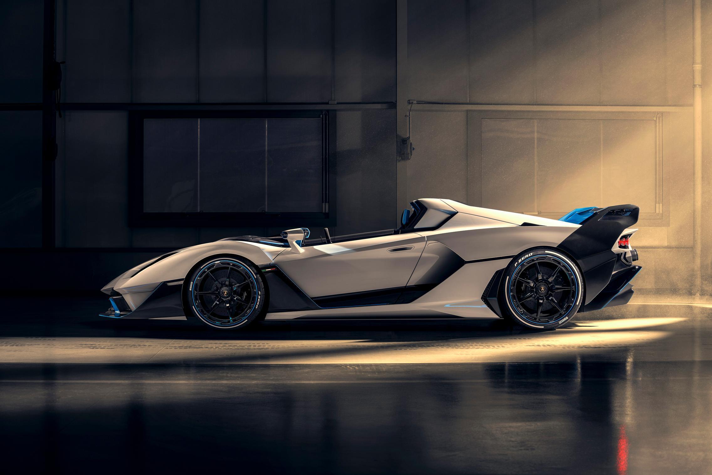 White Lamborghini SC20