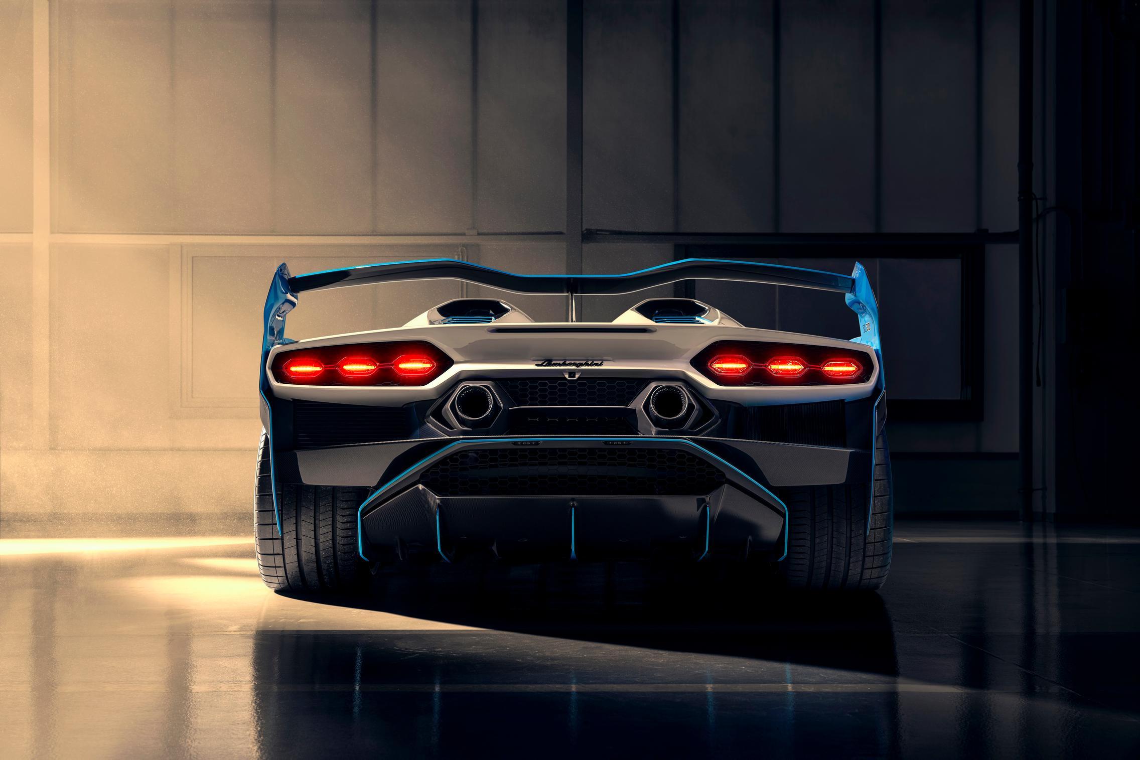 Lamborghini SC20 rear wing