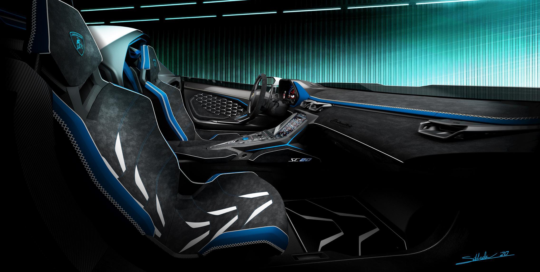 Lamborghini SC20 cabin
