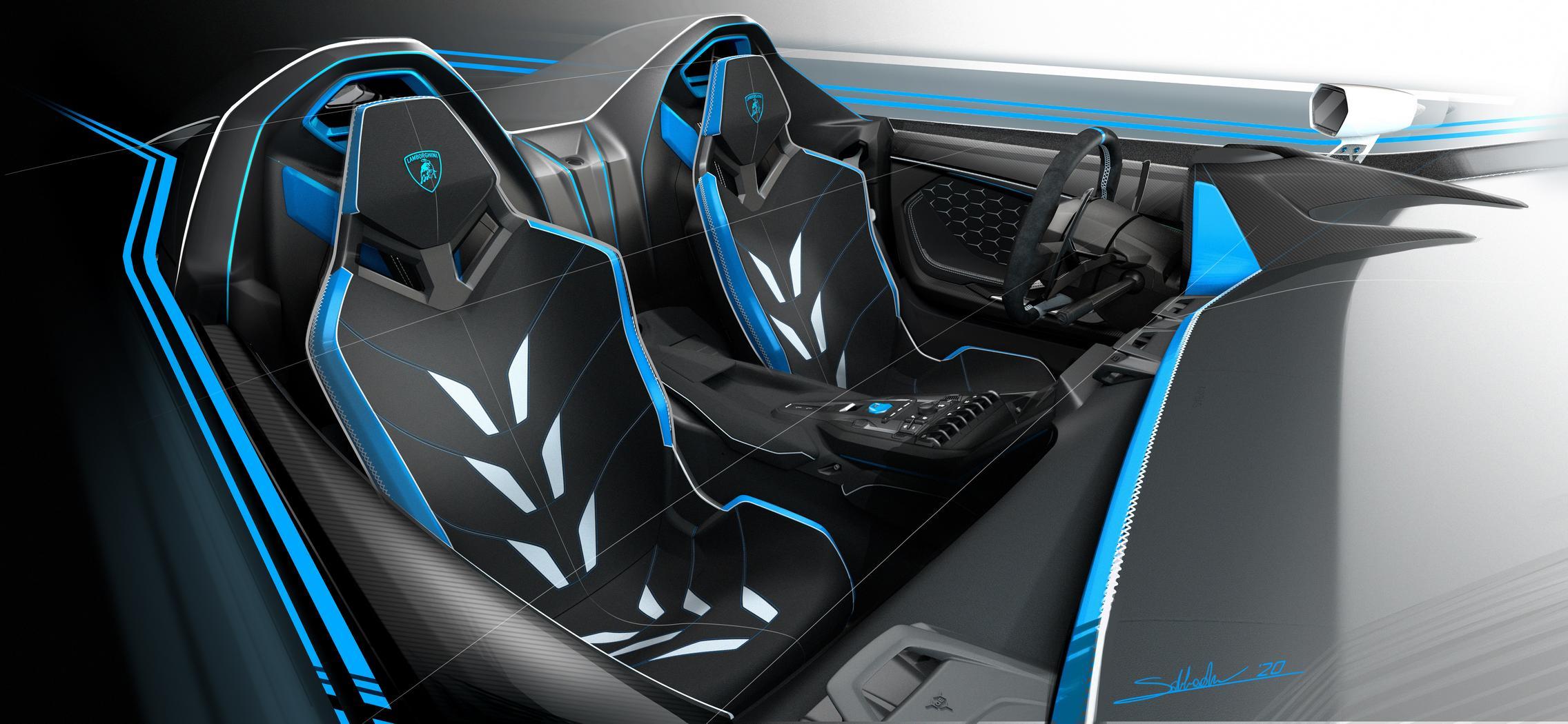 Lamborghini SC20 seats