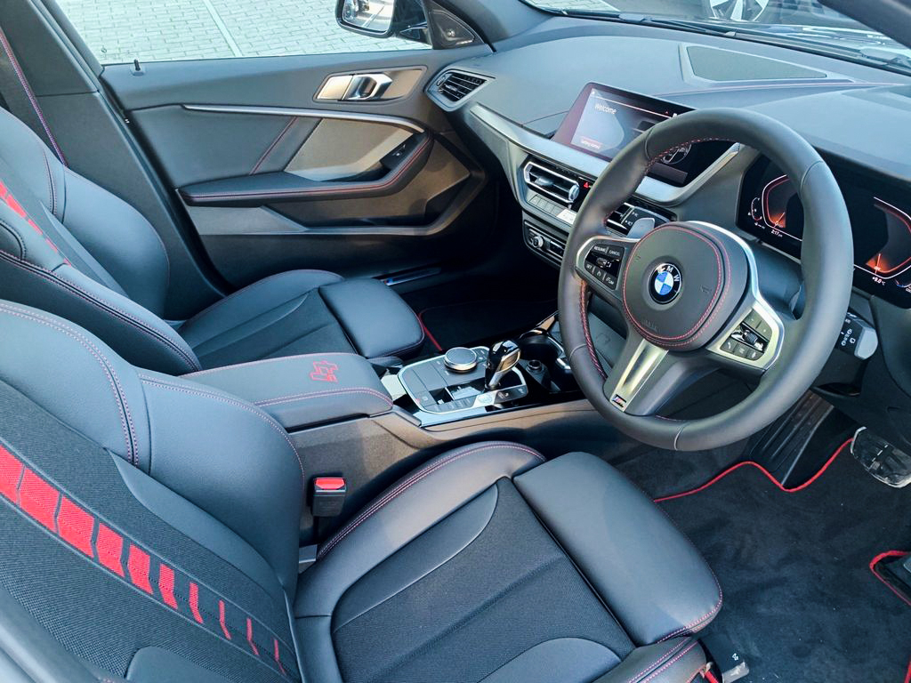 2021 BMW 128ti steering wheel