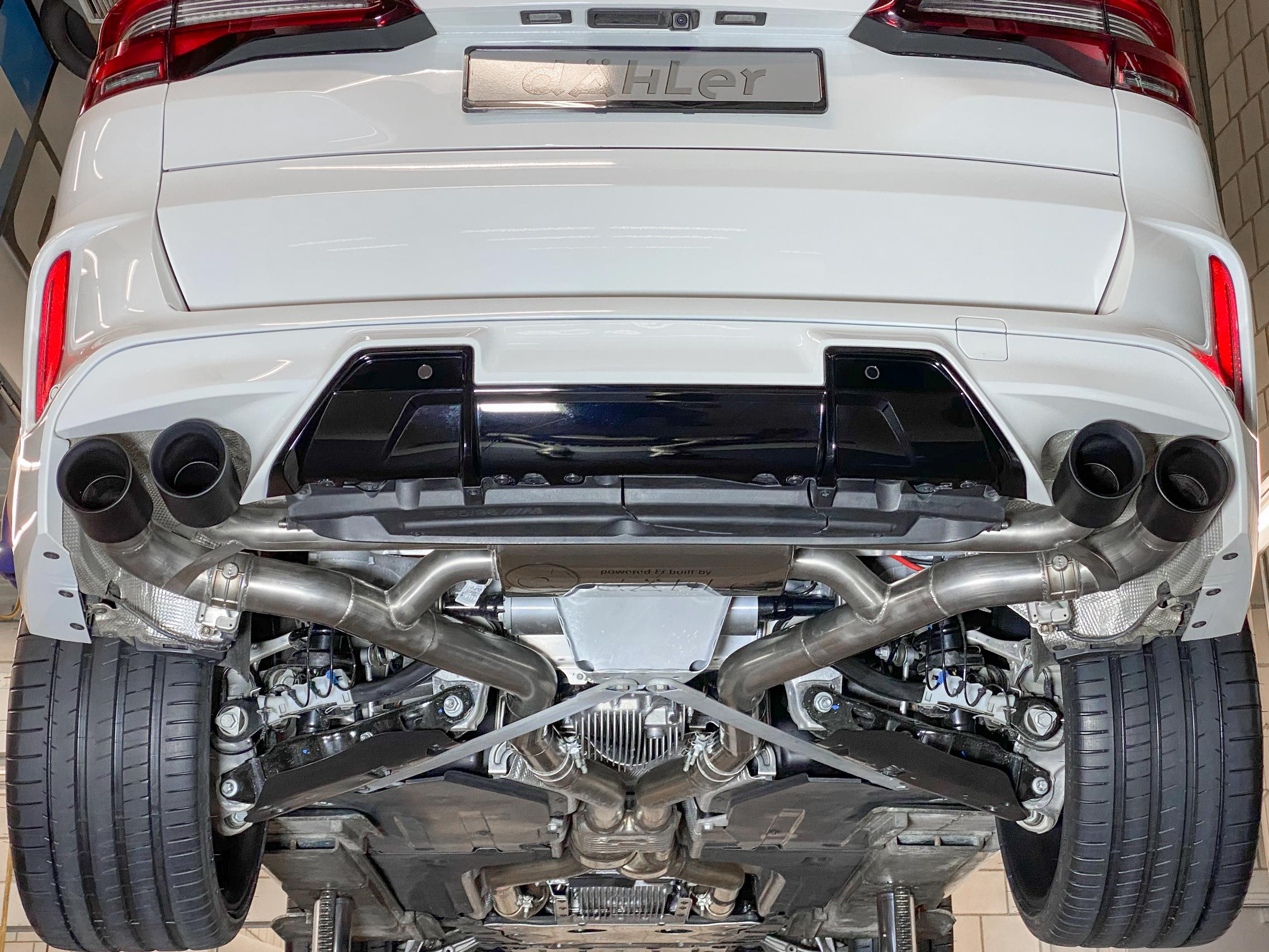 BMW X5 M Competition exhaust