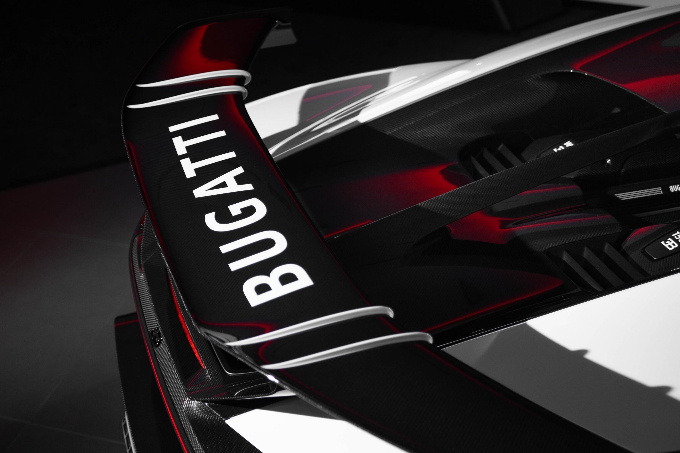 Bugatti Chiron Pur Sport wing