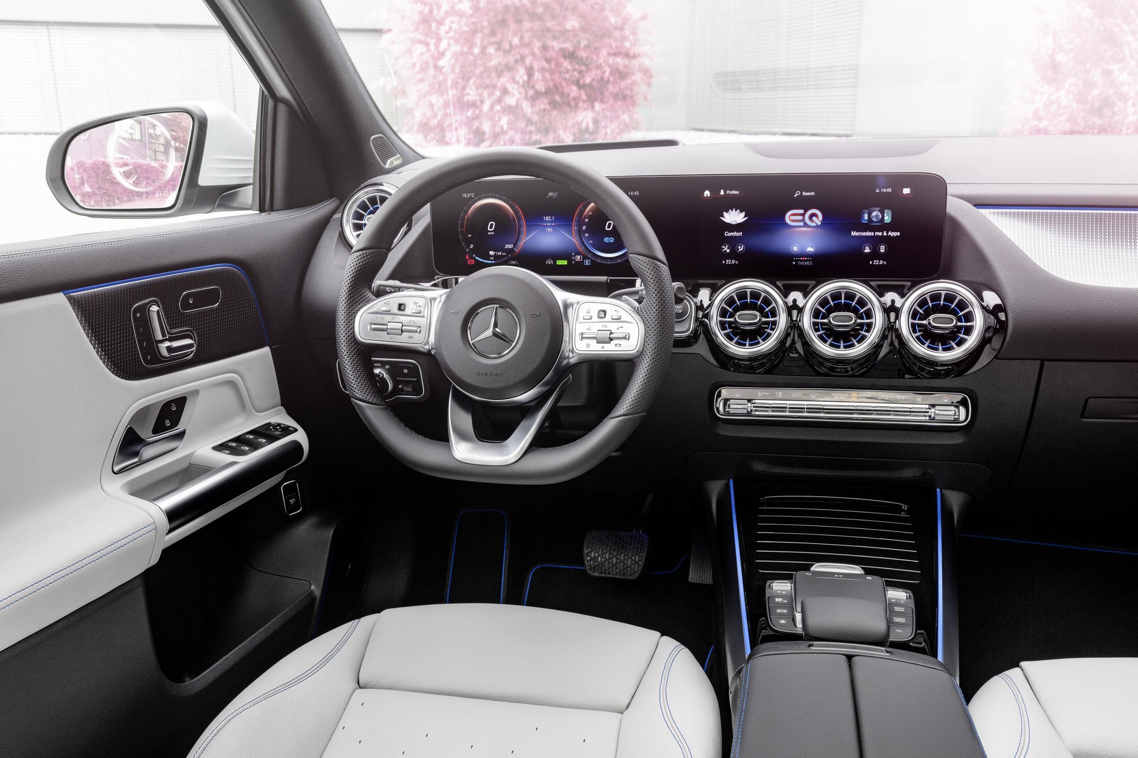 Mercedes-Benz EQA steering wheel