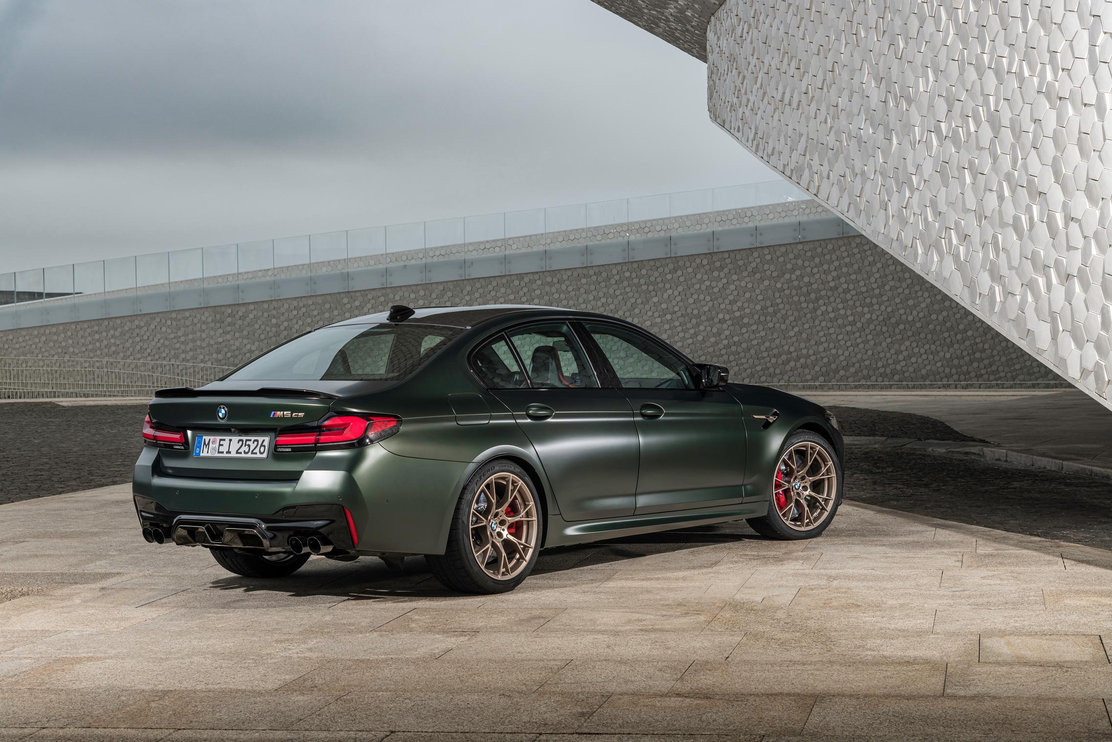 Green BMW M5 CS