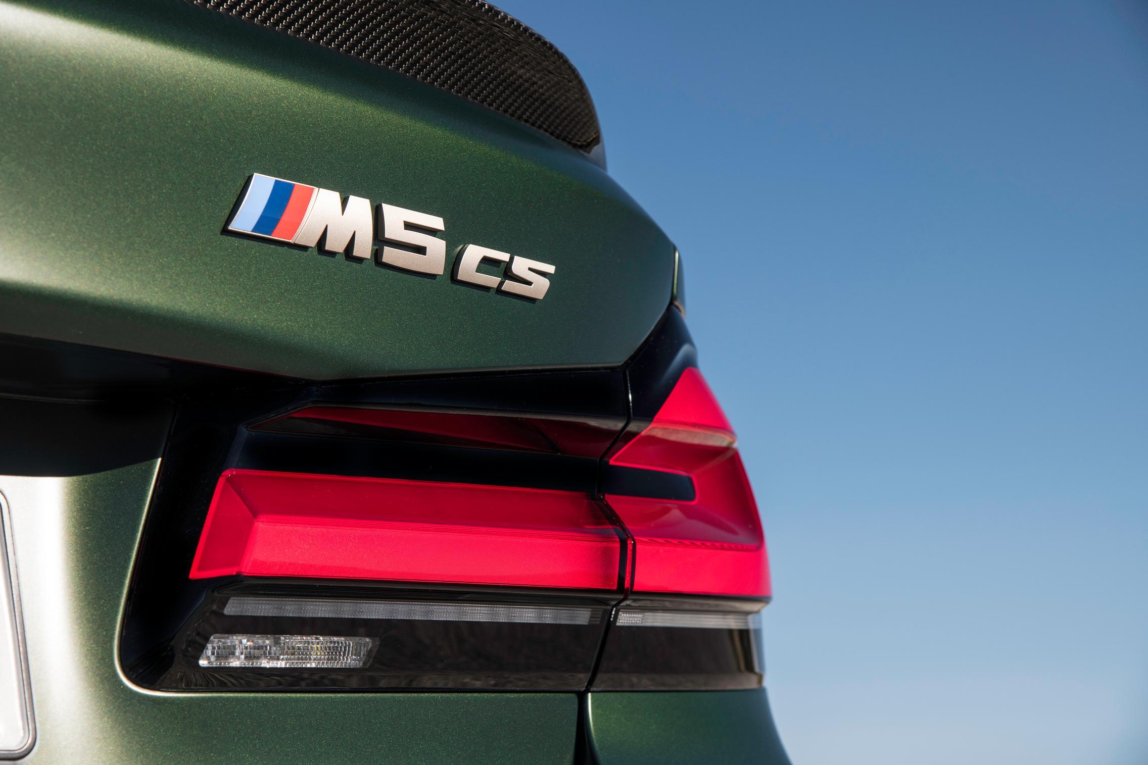 M5 CS rear badge