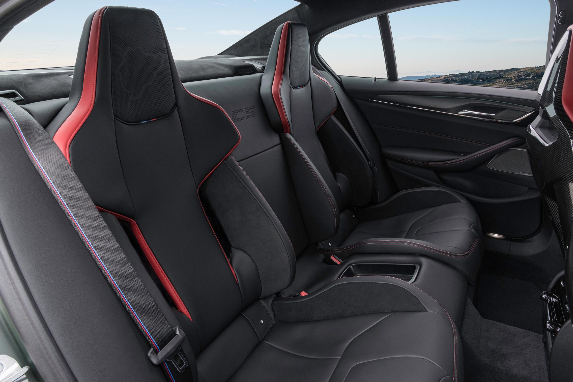 BMW M5 CS rear seats