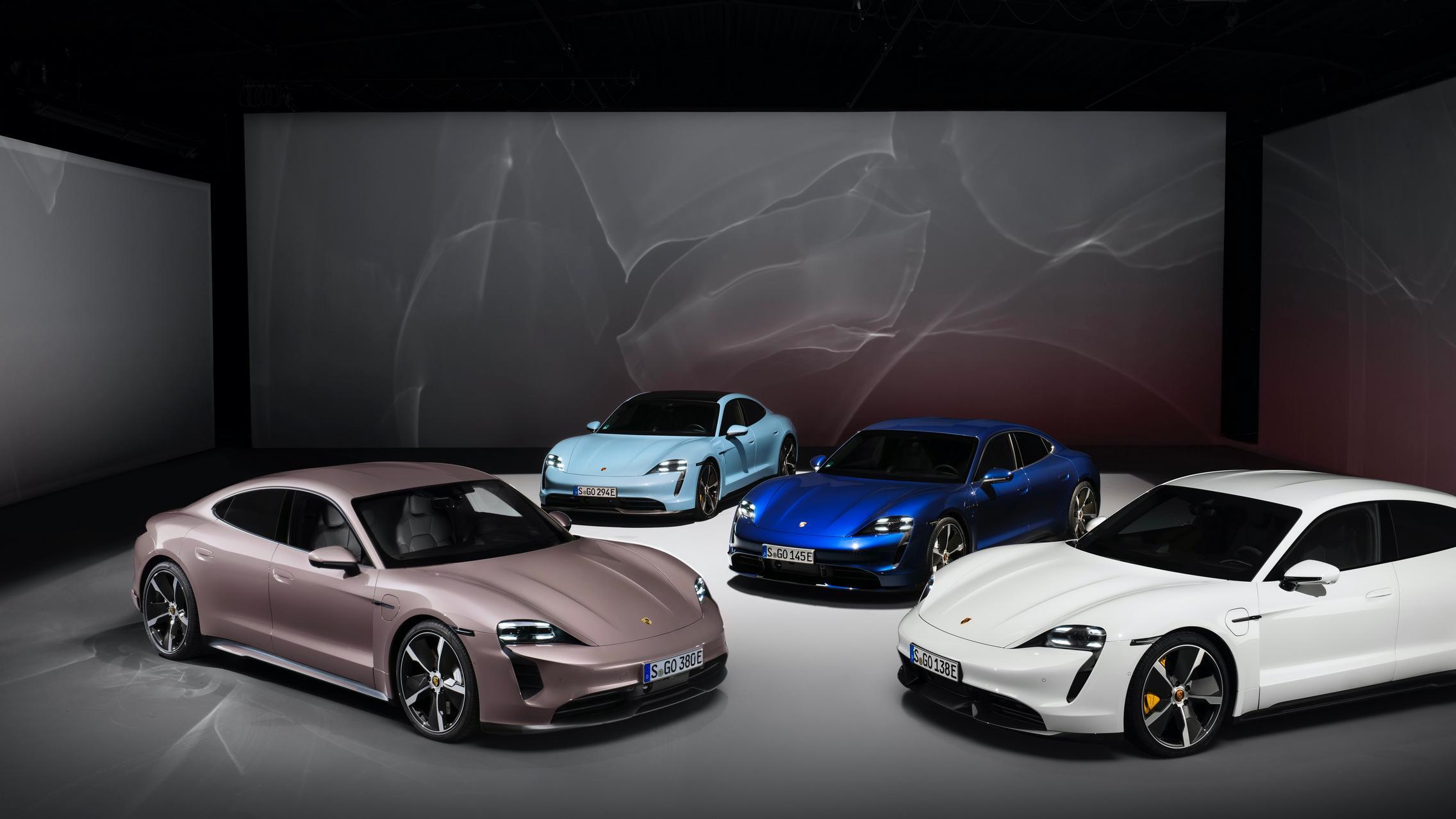Porsche Taycan RWD colors