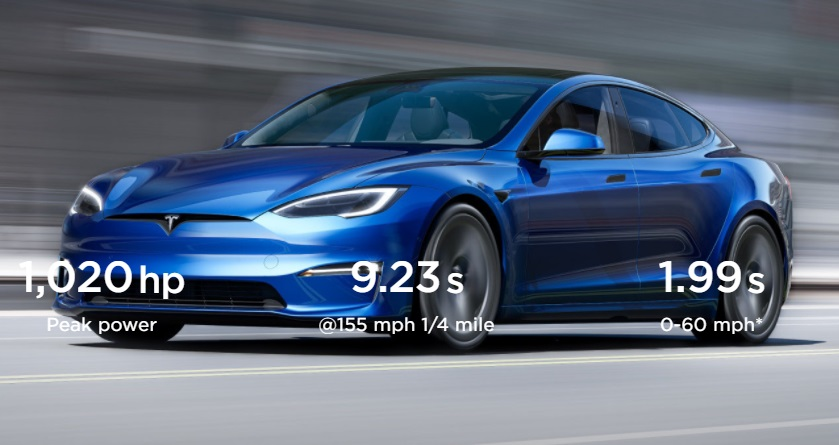 Tesla Model S Plaid: A 1020hp Super Sedan, Quicker than a Bugatti Chiron