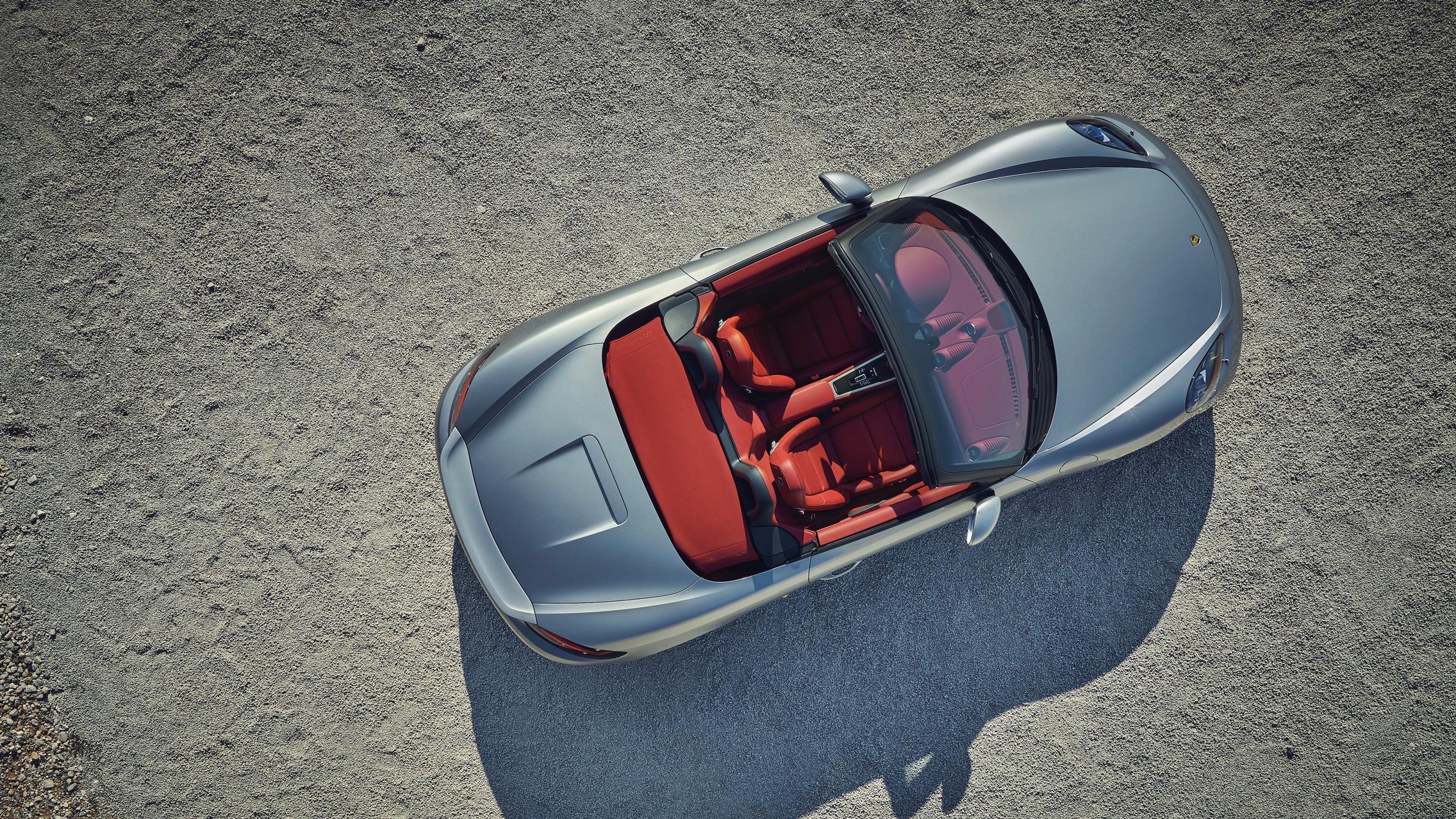 Porsche 718 Boxster Top View