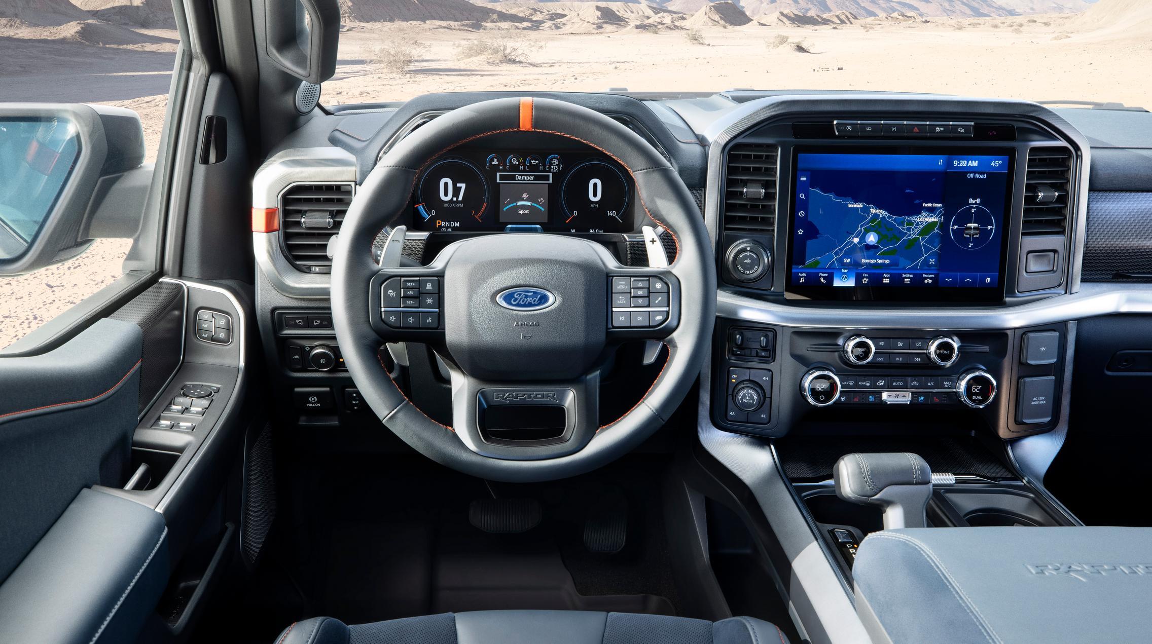 2021 Ford F-150 Raptor steering wheel