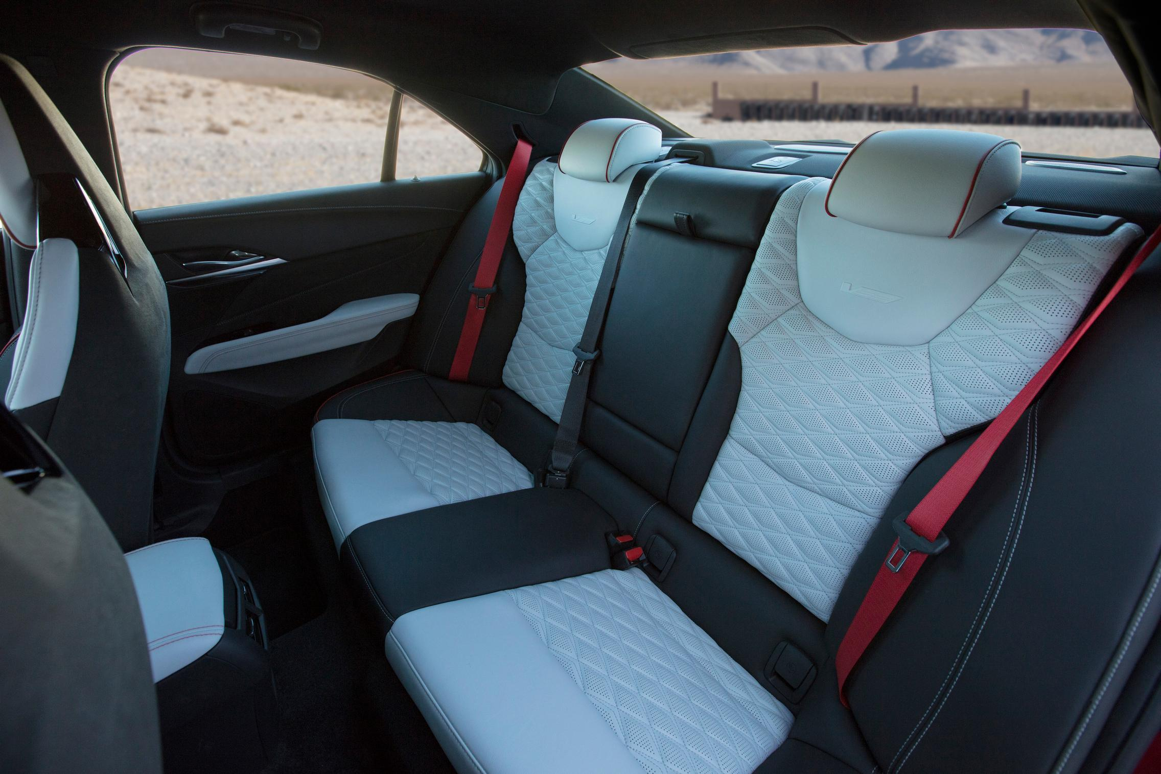 2022 Cadillac CT4-V Blackwing rear seats