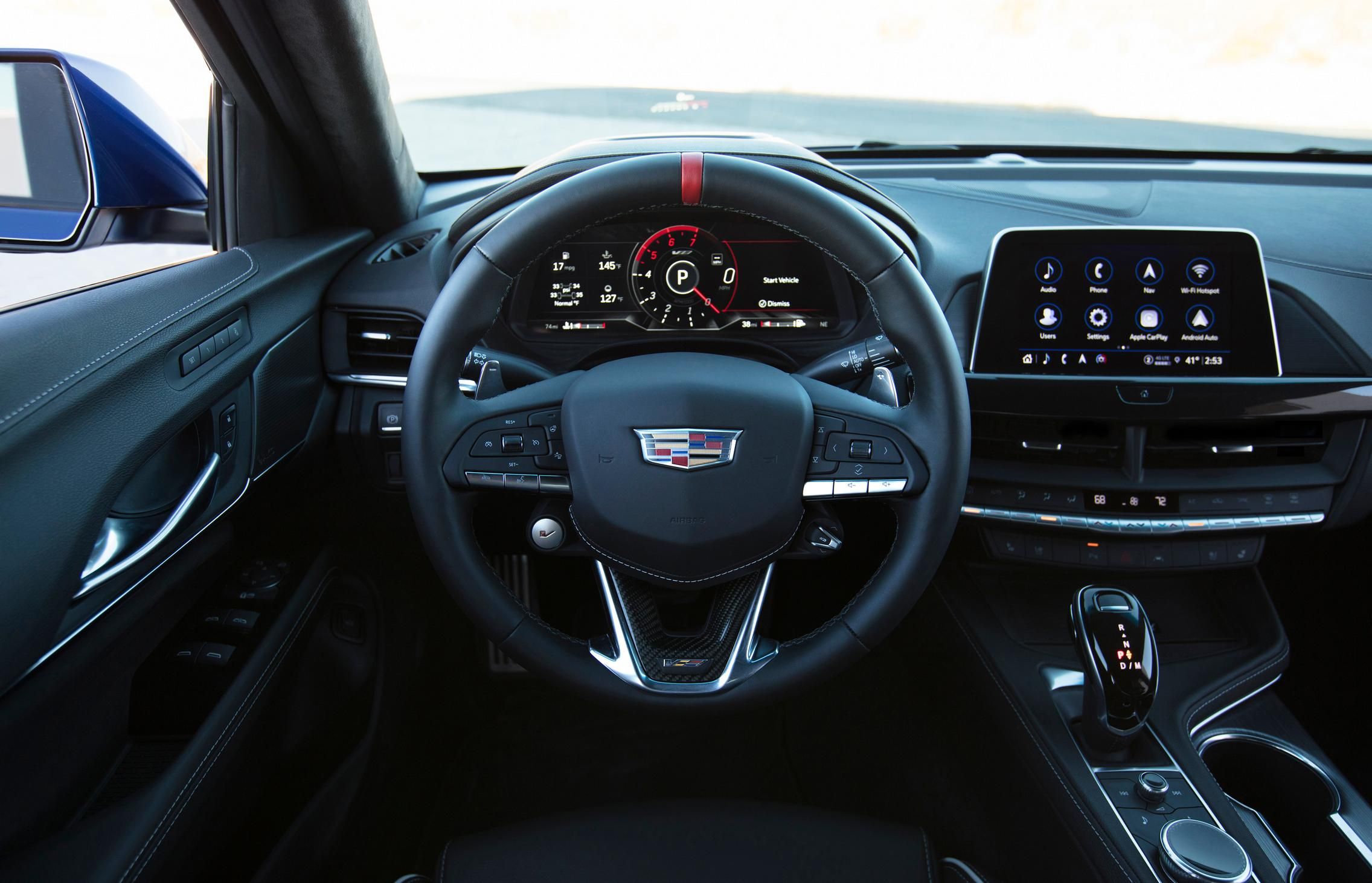 2022 Cadillac CT4-V Blackwing steering wheel