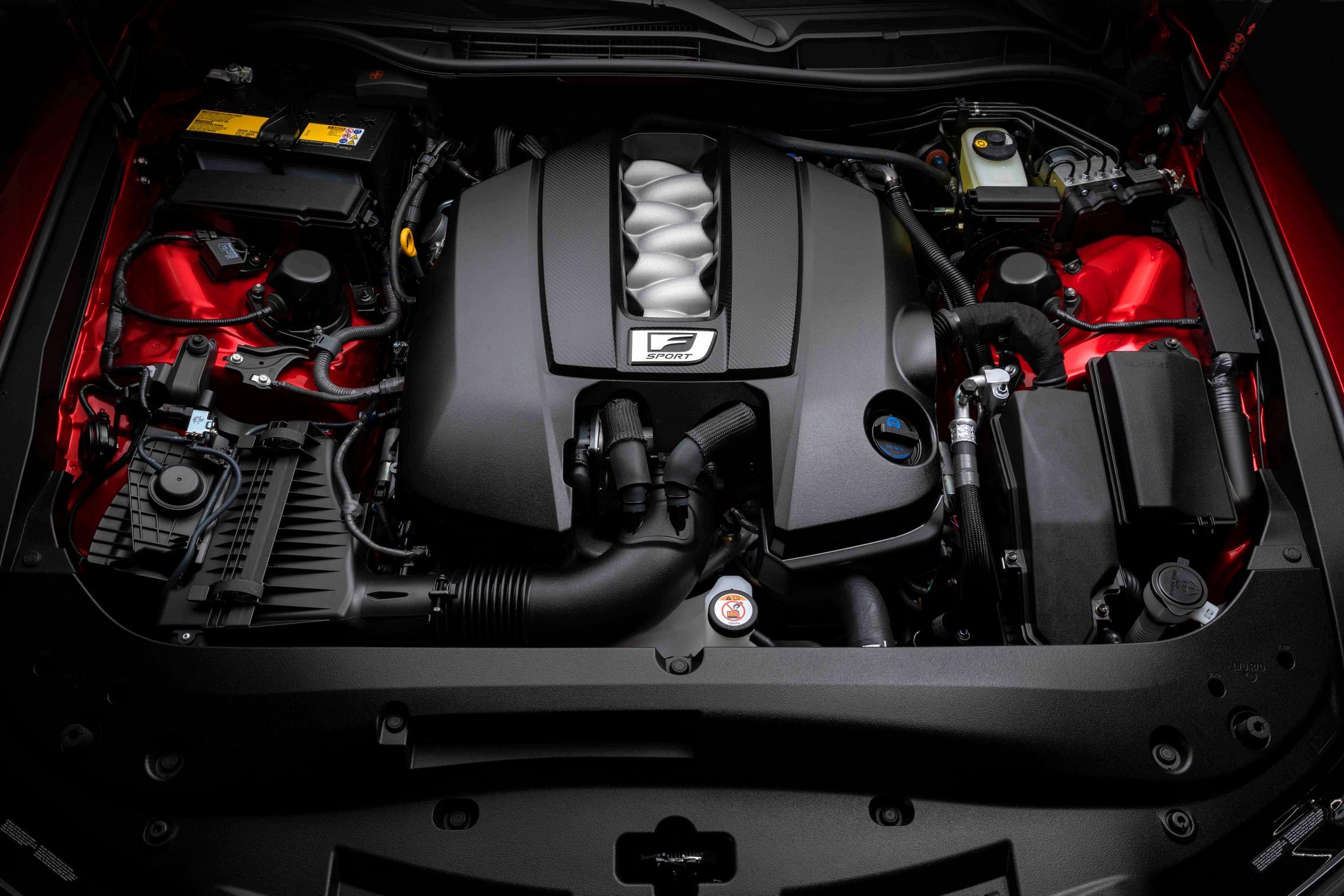 2022 Lexus IS 500 F Sport Performance engine