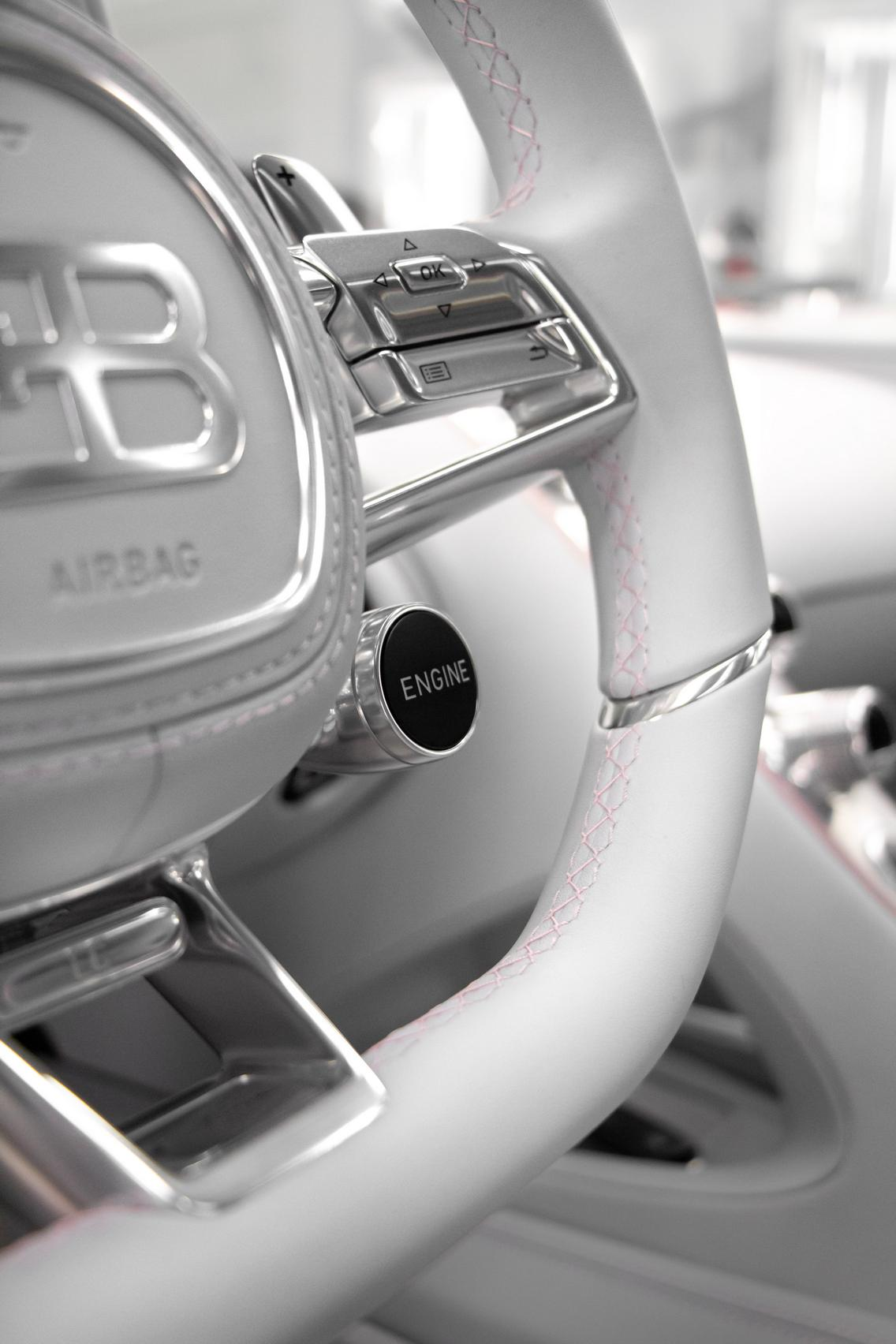Bugatti Chiron Sport steering wheel