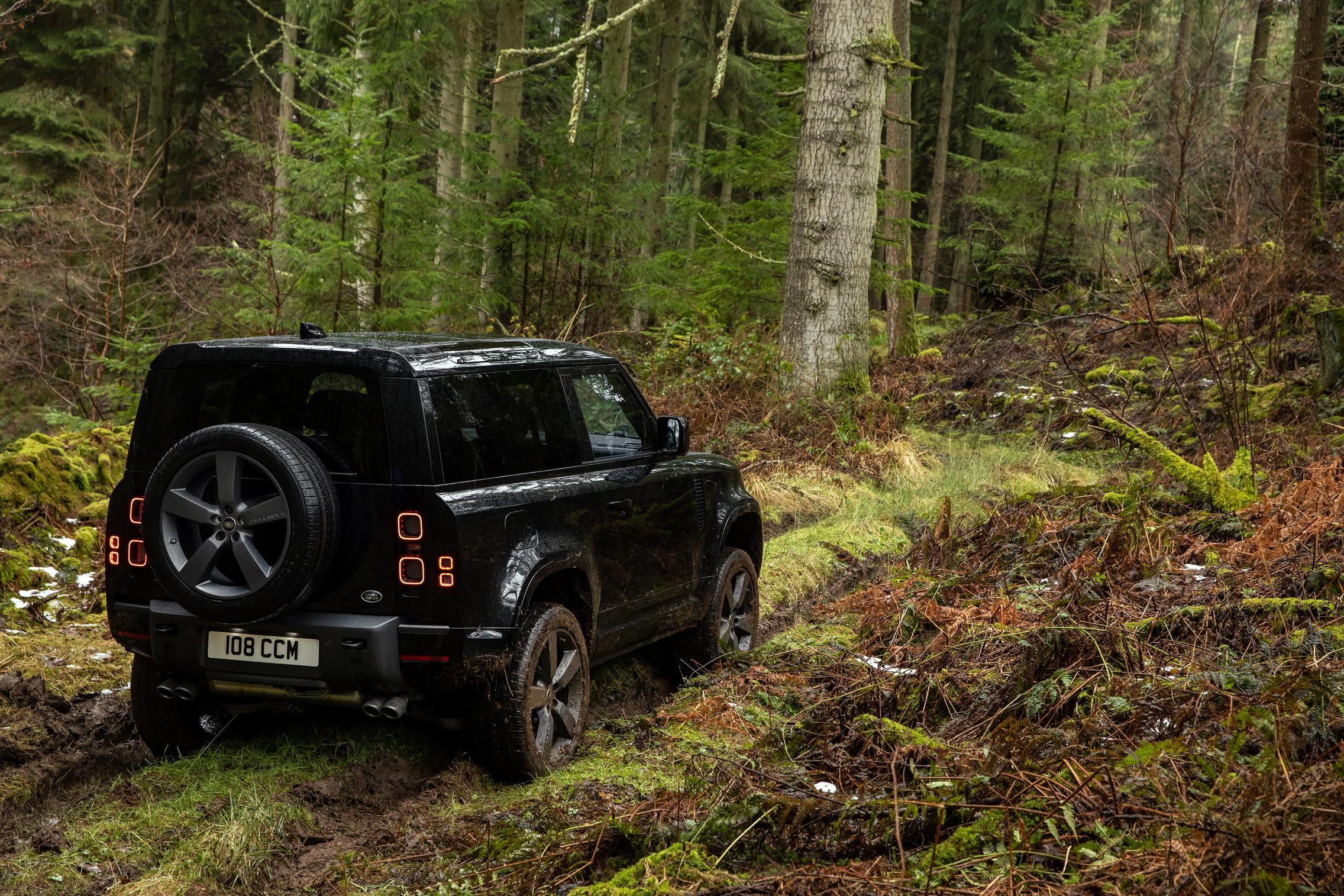 Land Rover Defender 90 V8 forest