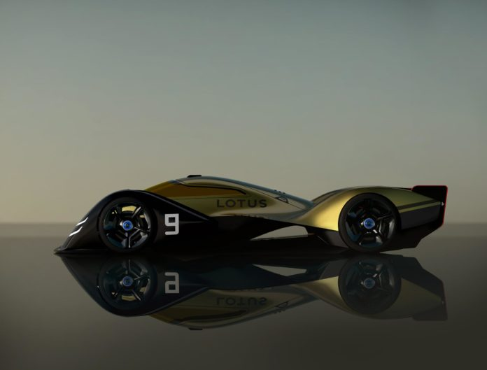 Lotus E-R9 side