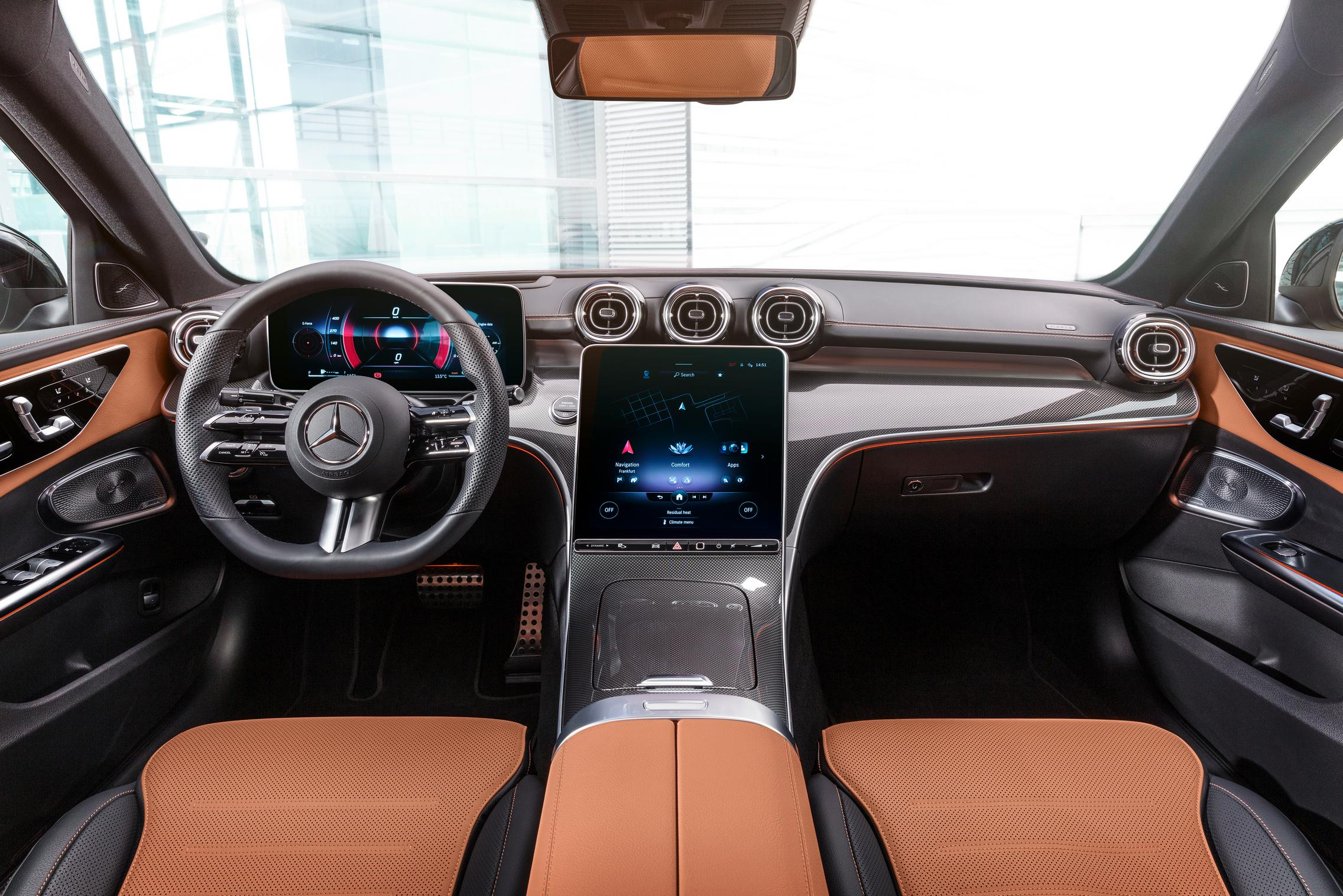 New-W206-C-Class-brown-interior