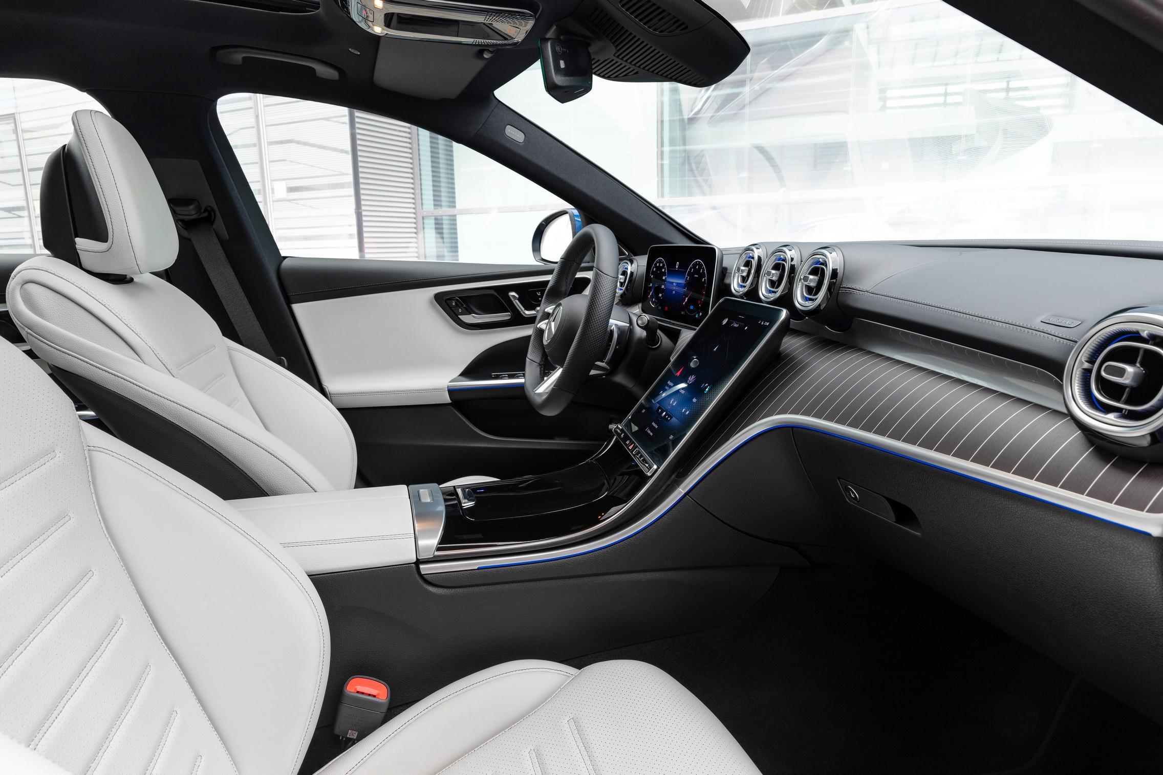 New-W206-C-Class-white-interior