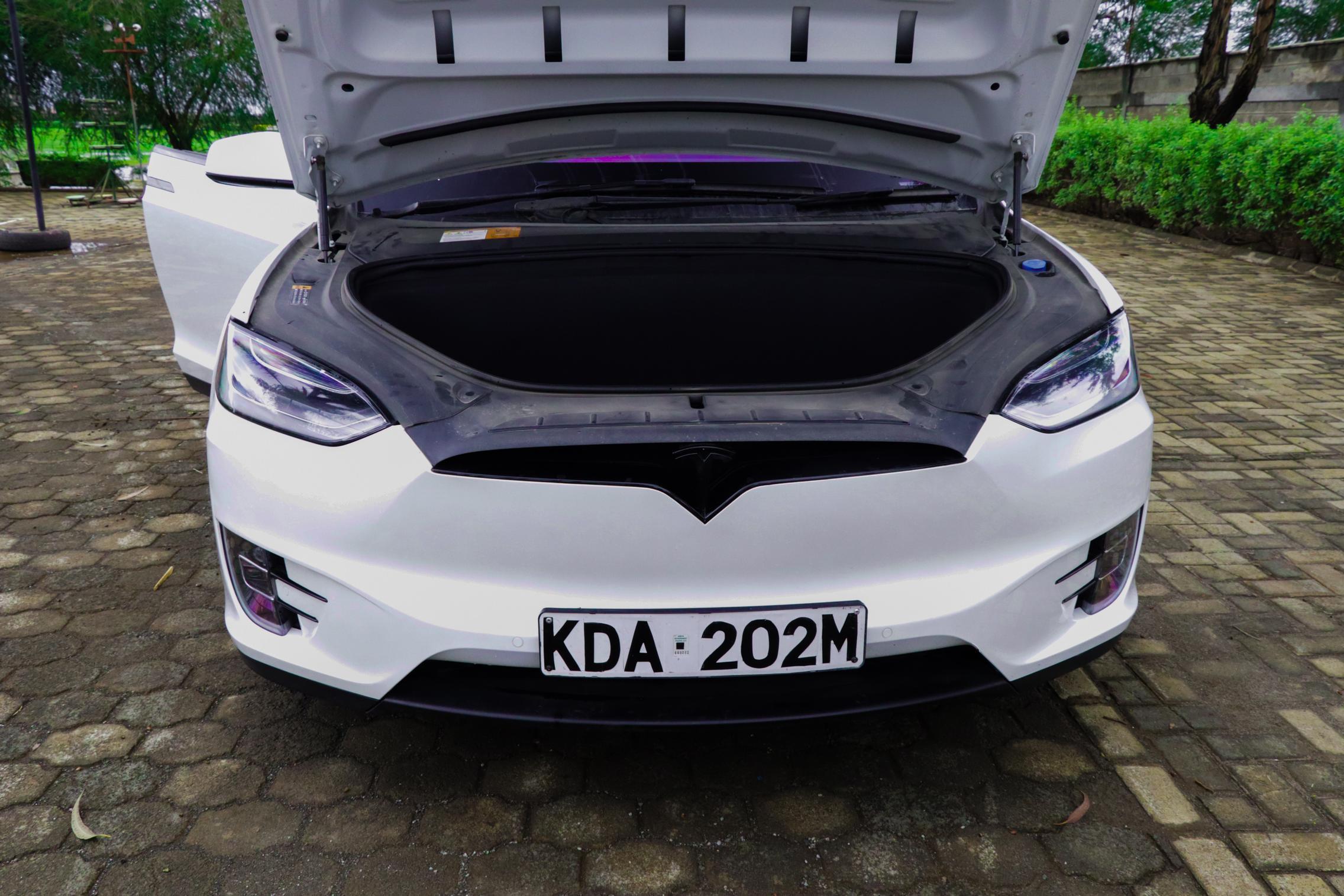 Telsa Model X front trunk