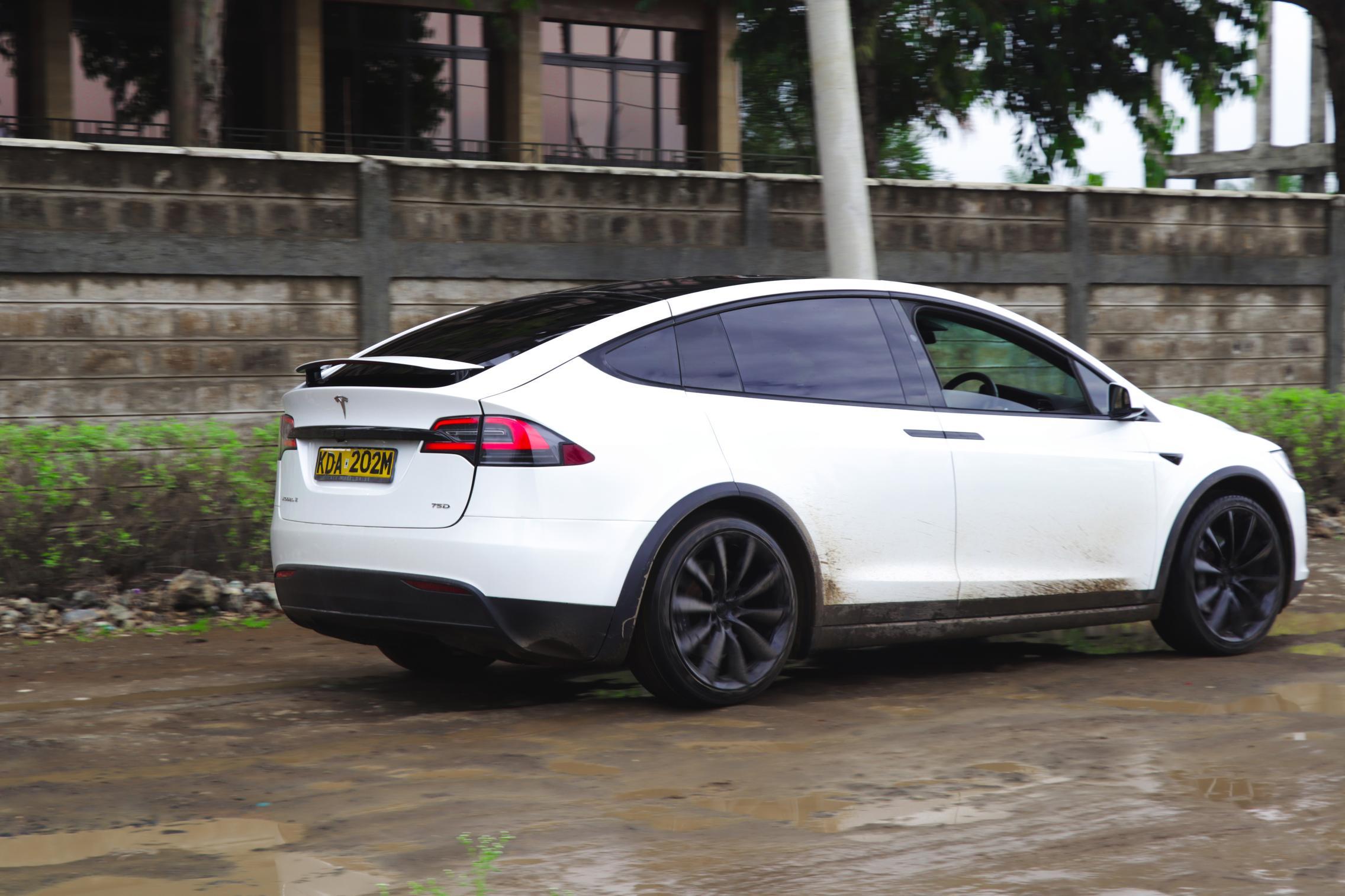 Telsa Model X rear quarter