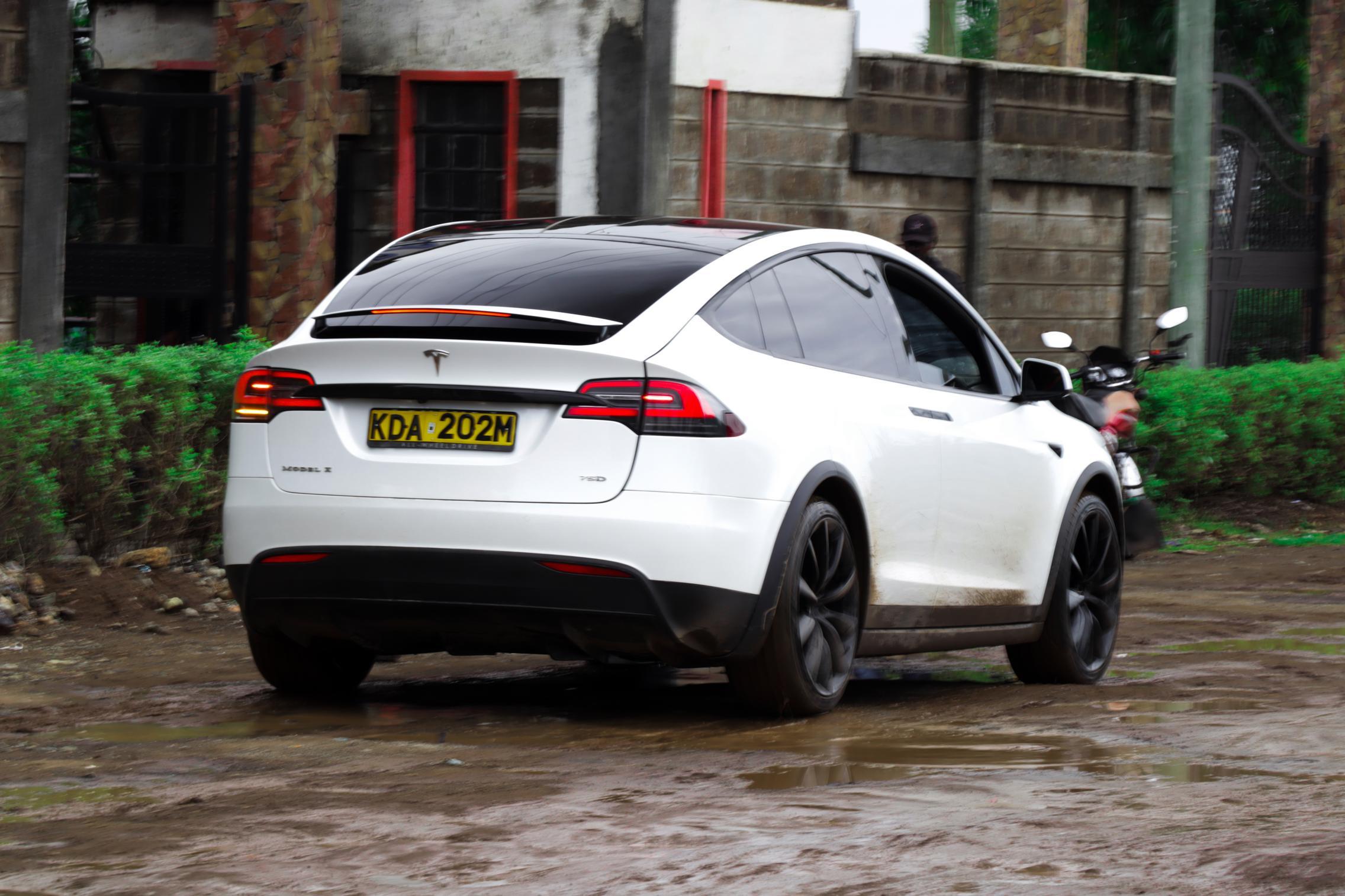 Telsa Model X rear view