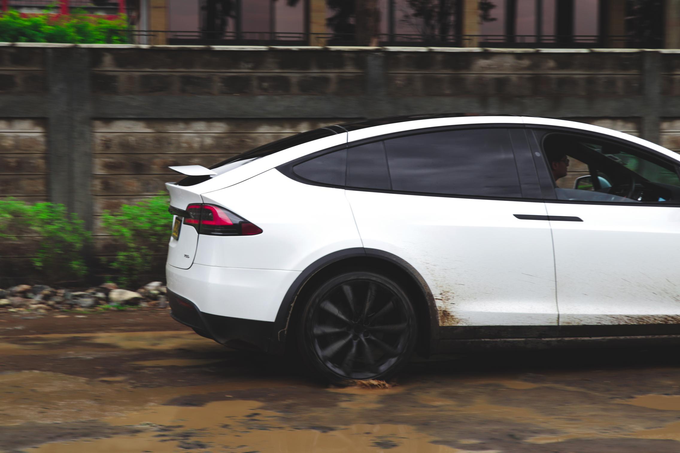 Telsa Model X rear wheels