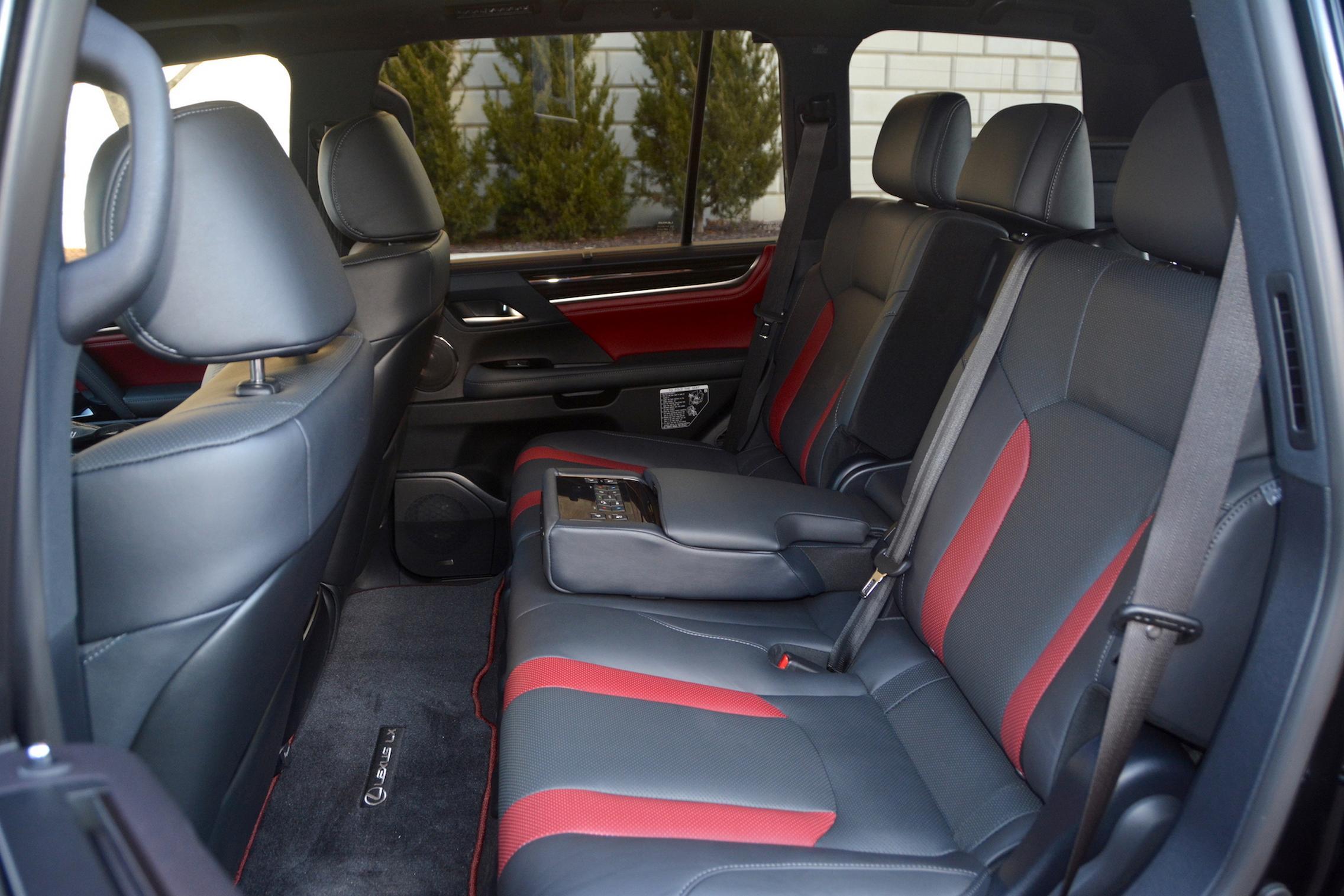 2021 Lexus LX570 rear seats