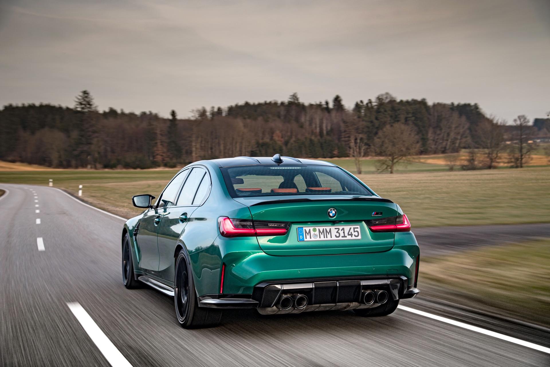 2022 BMW M3 rear isle of man green