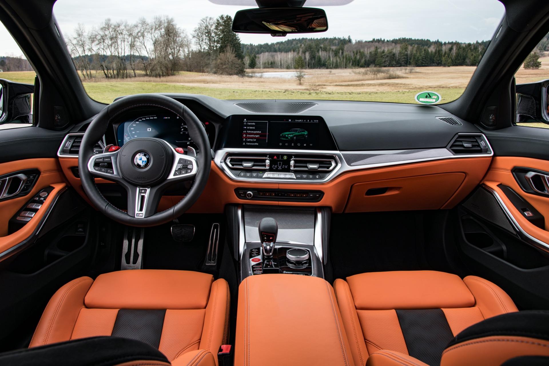 2022 BMW M3 interior