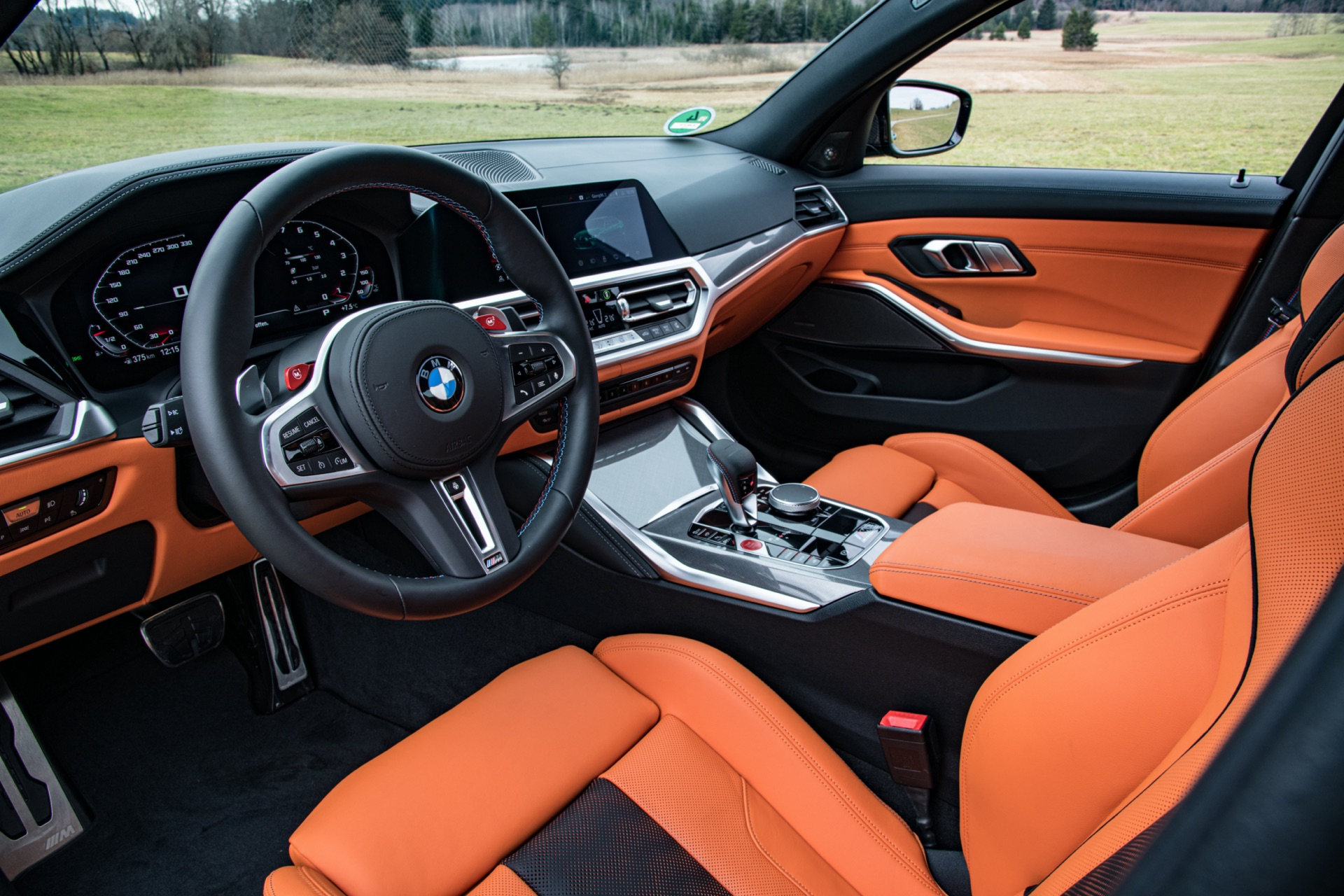 2022 BMW M3 cabin