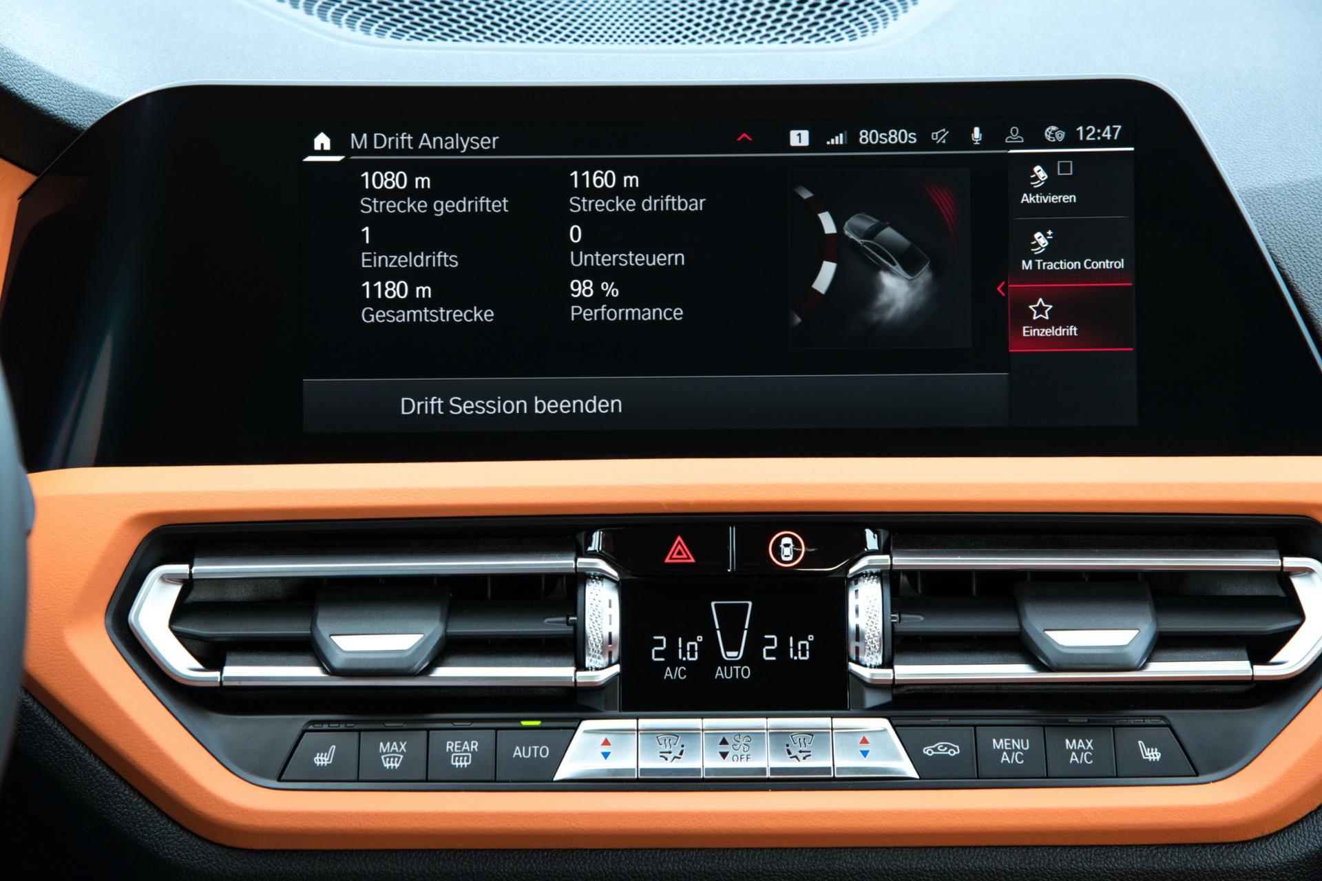 2022 BMW M3 infotainment