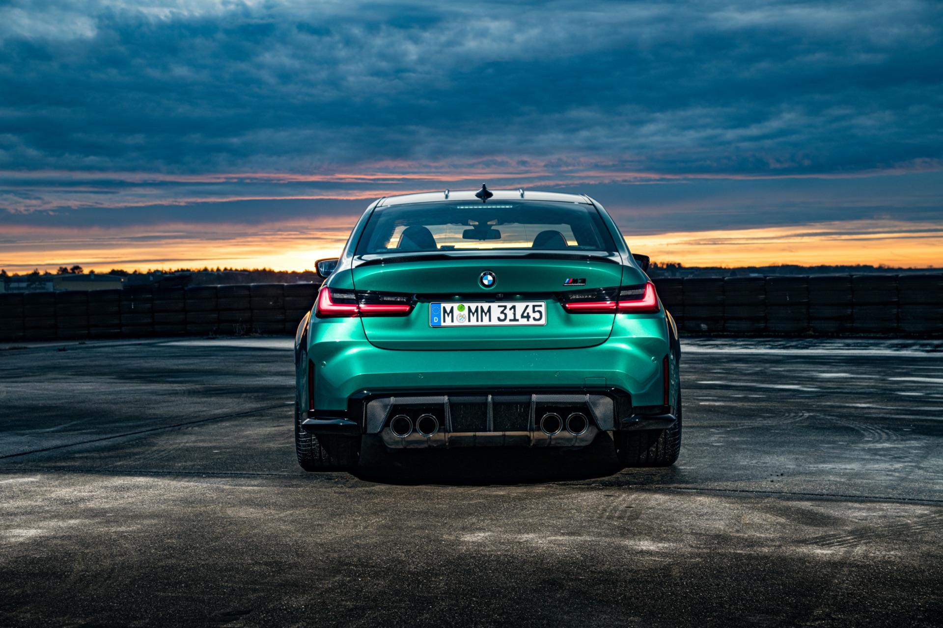 2022 BMW M3 rear