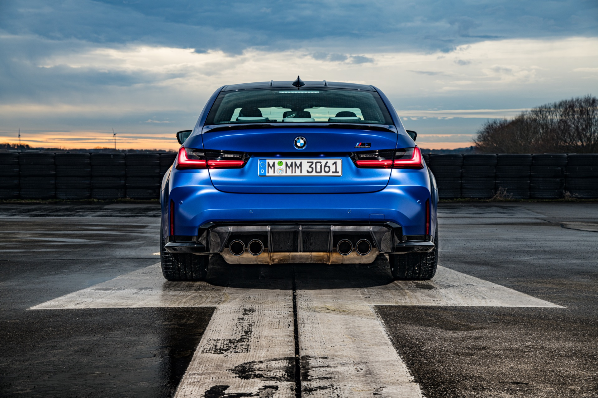 Portimao Blue BMW G80 M3 rear