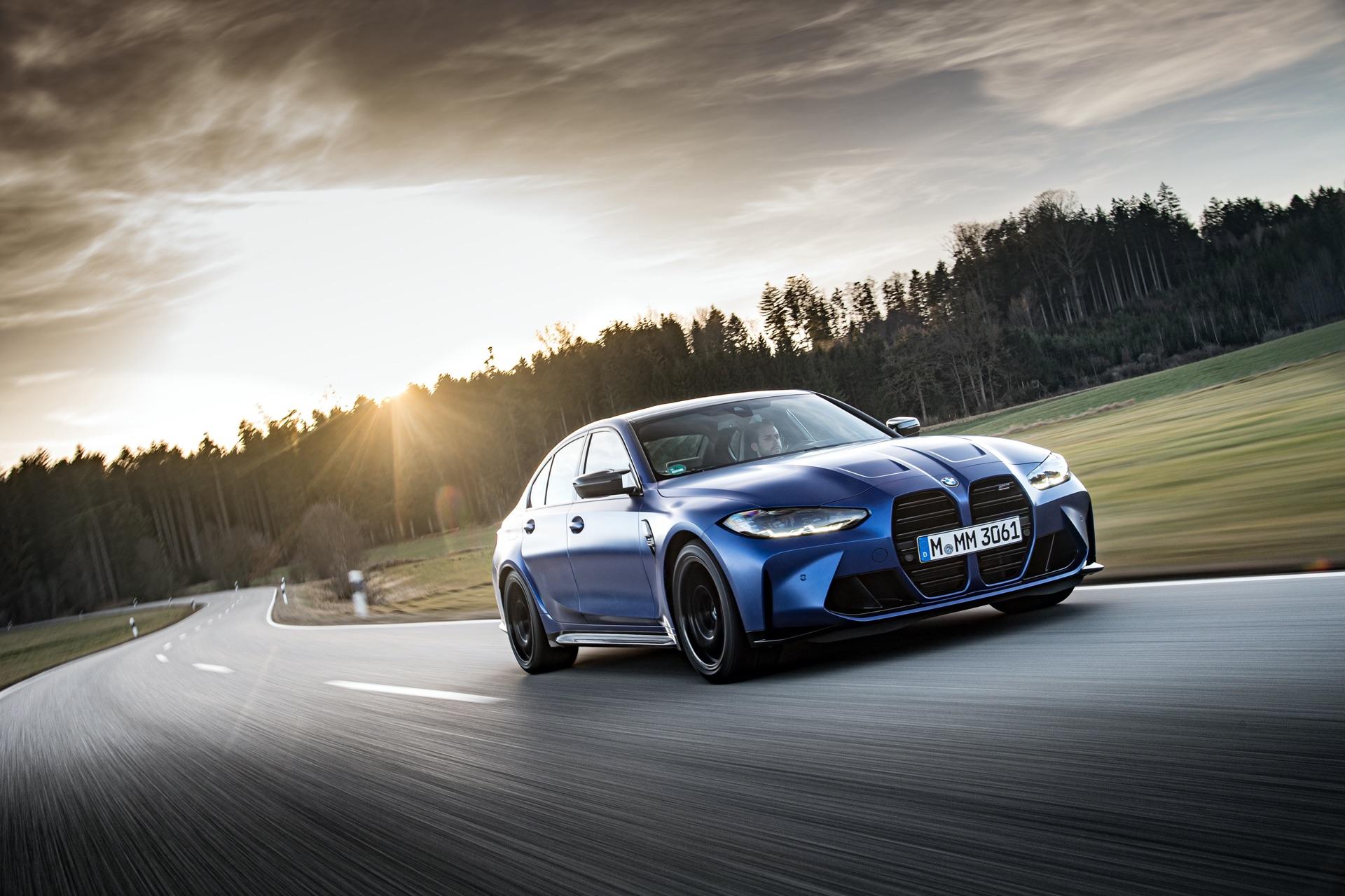 Portimao Blue BMW G80 M3 wallpaper