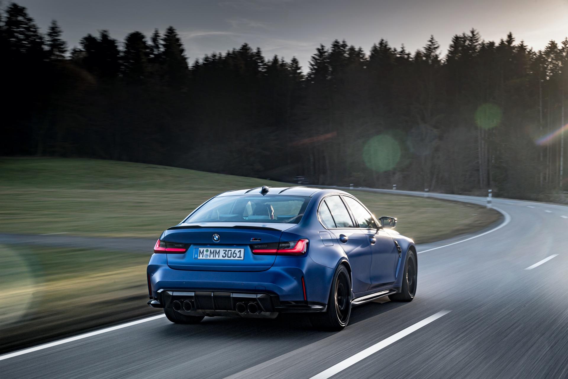 Portimao Blue BMW G80 M3 rear lights