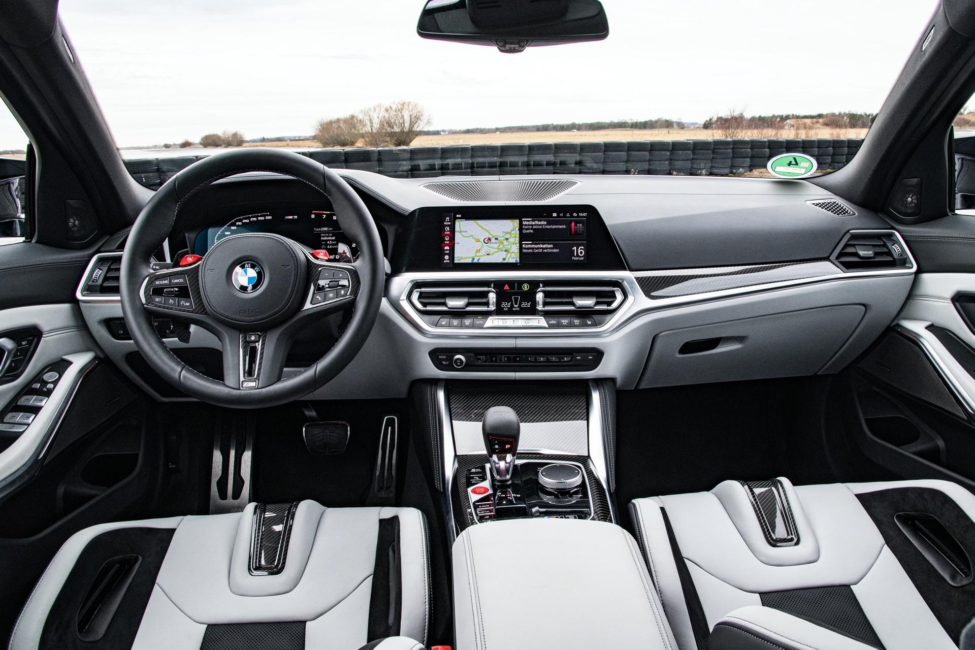 2022 BMW M3 white interior