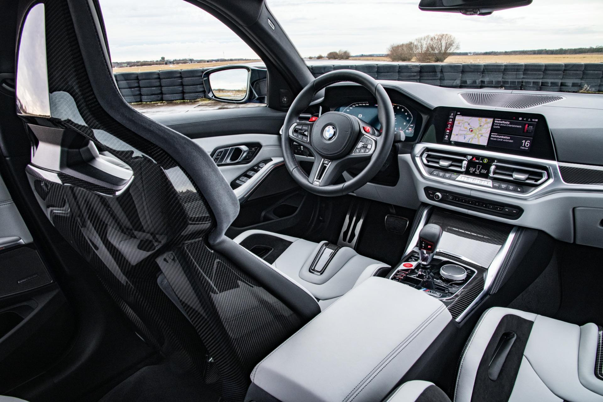 2022 BMW G80 M3 cabin