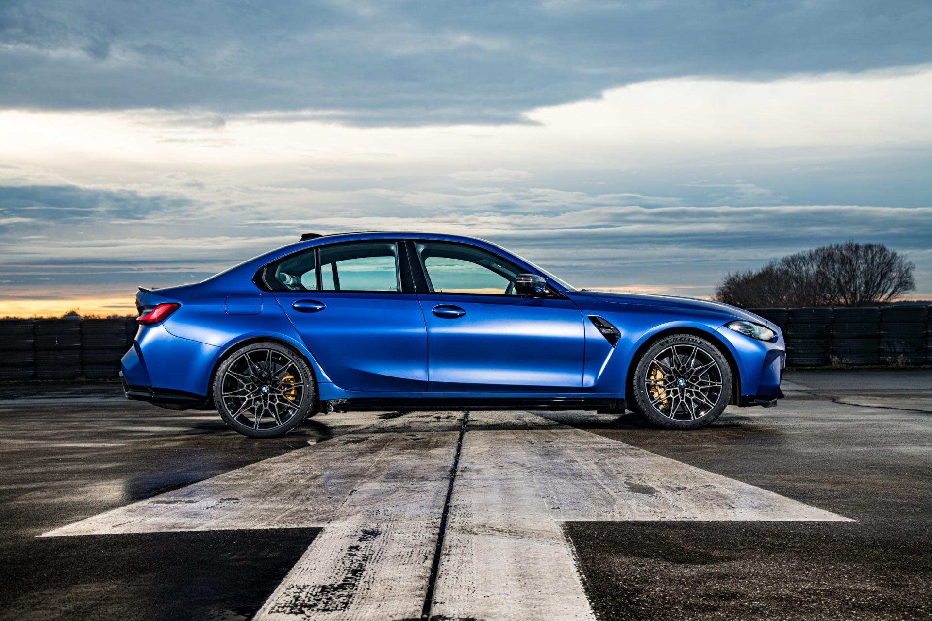 Portimao Blue BMW G80 M3 side view