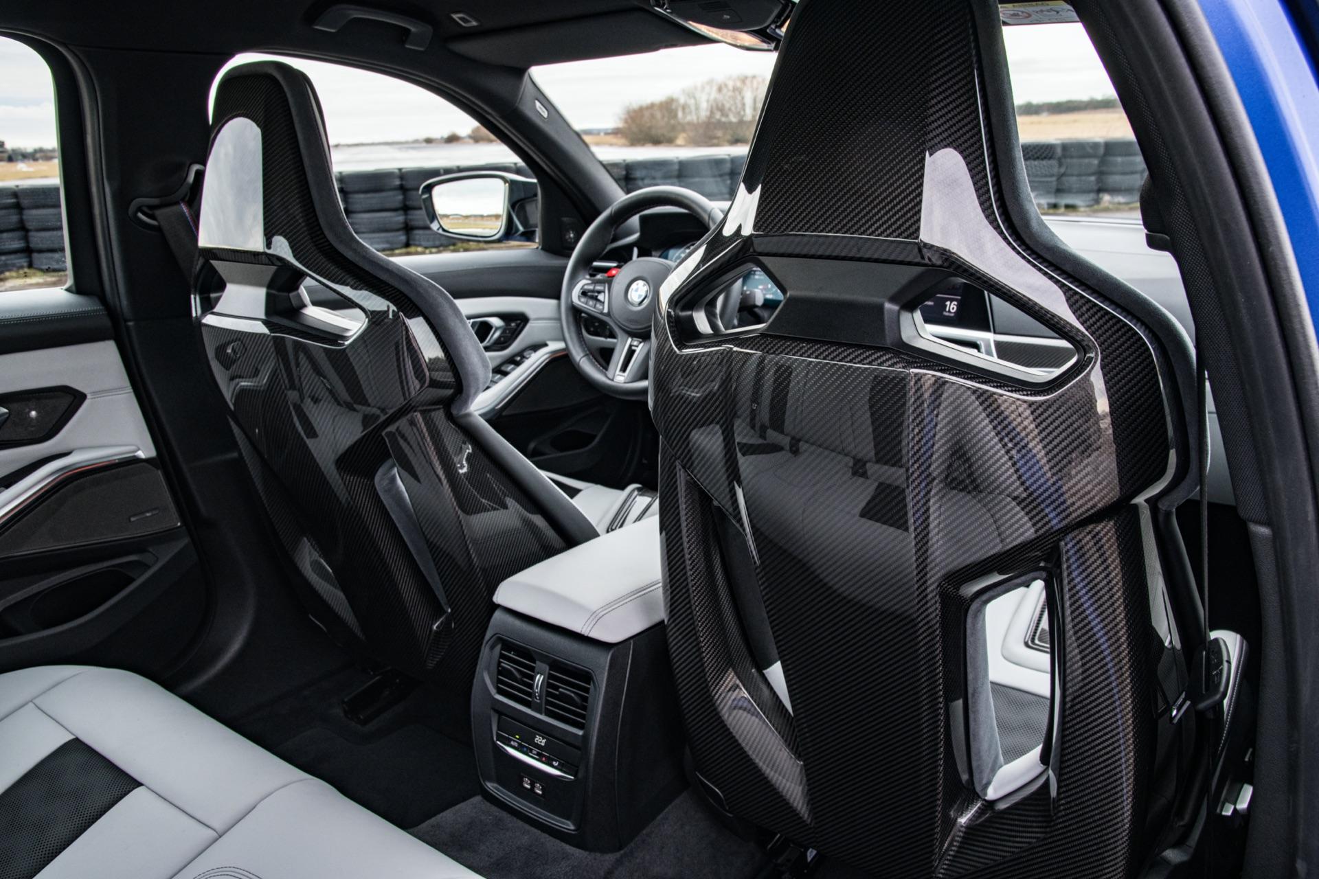 2022 BMW G80 M3 carbon seats