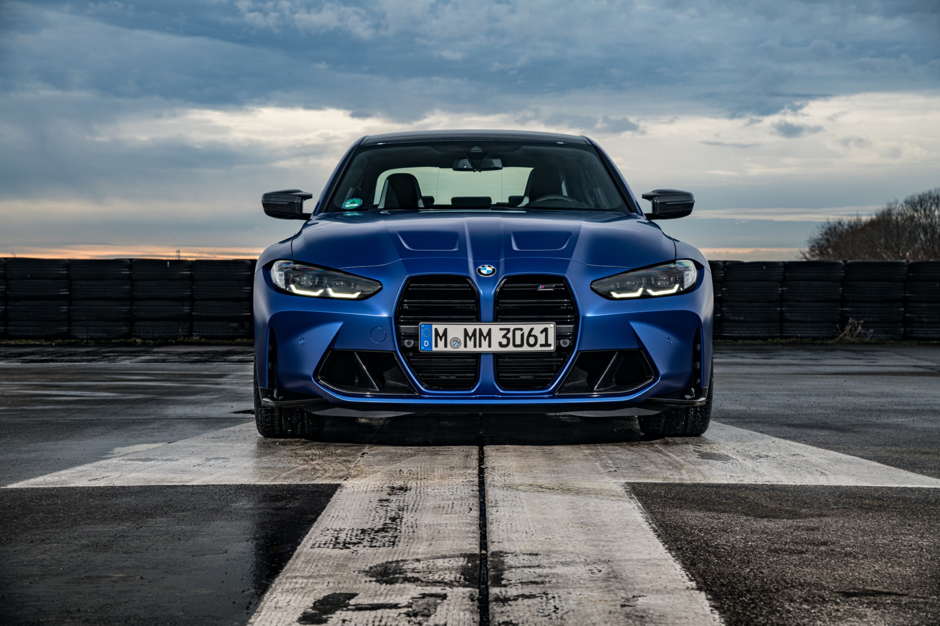 Portimao Blue BMW G80 M3 front view
