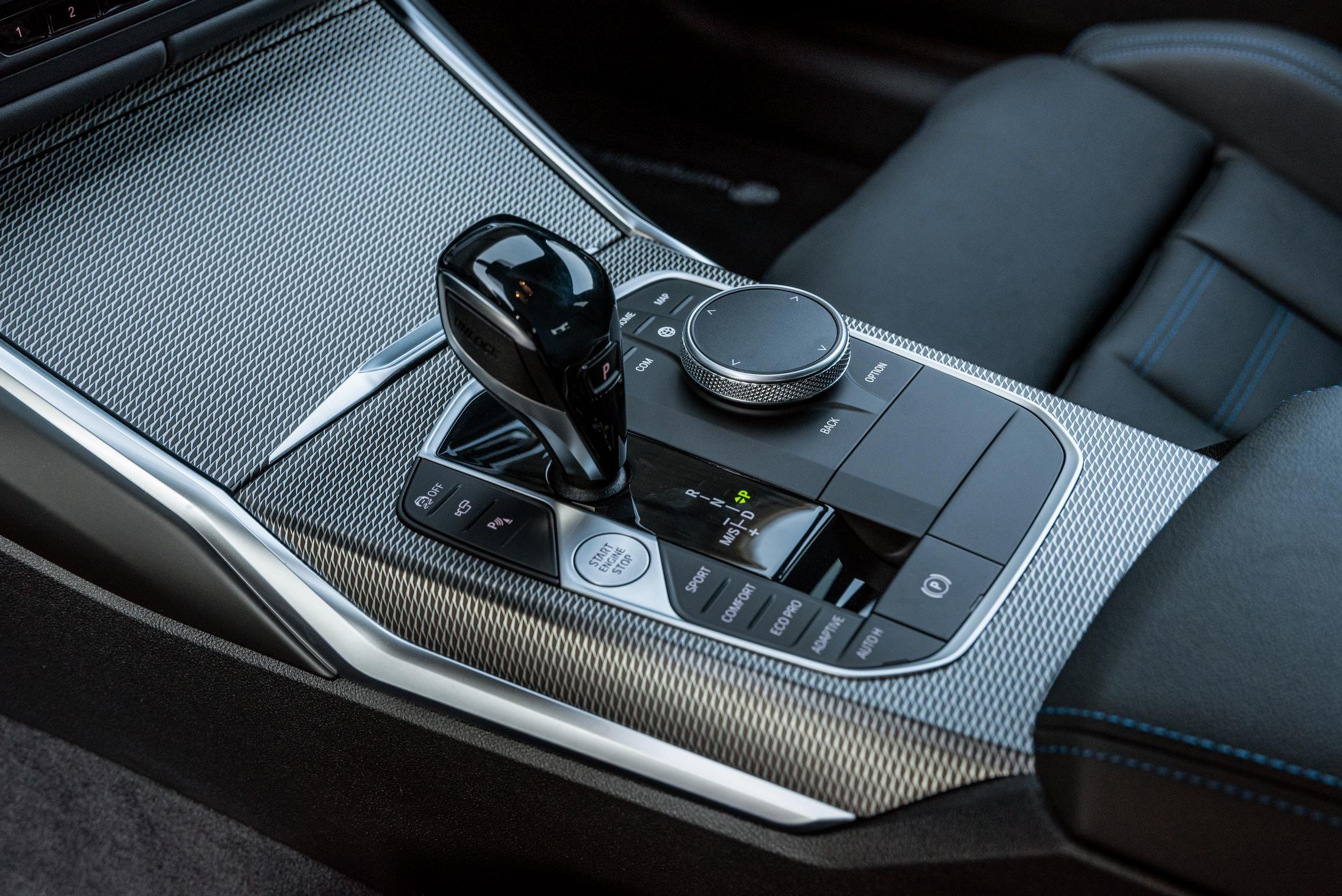 BMW M340i gear shifter