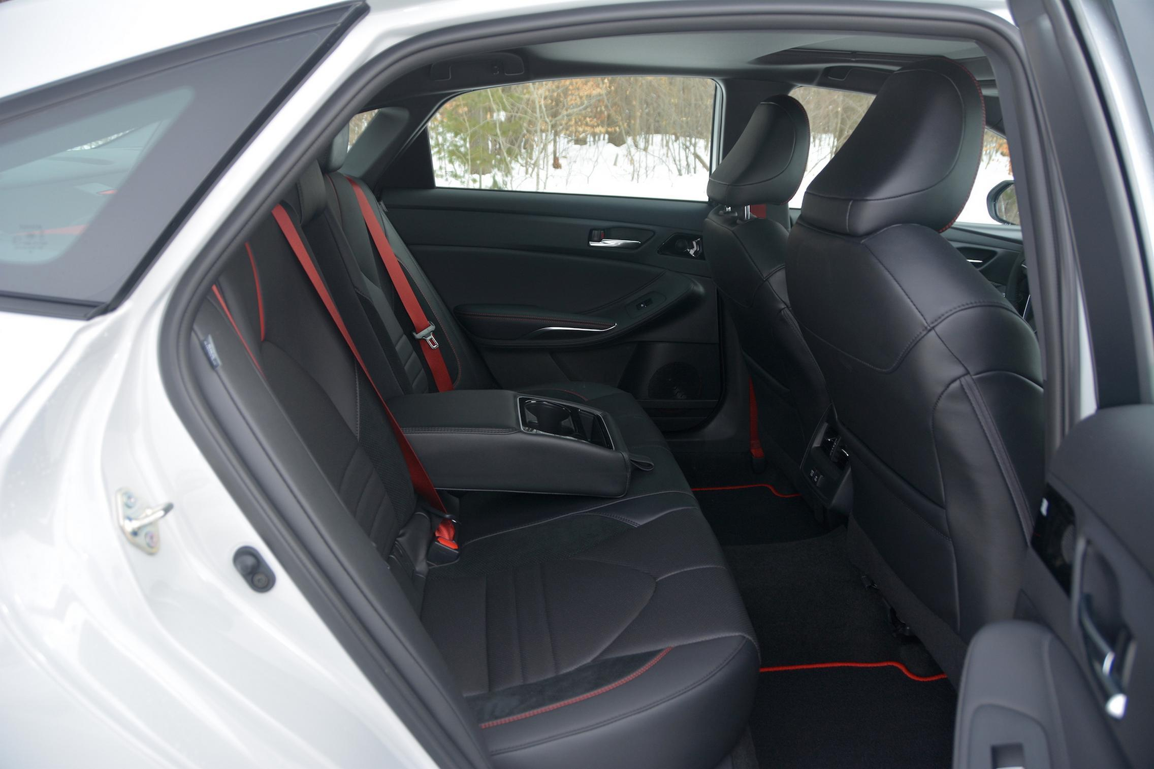 Toyota Avalon TRD rear seats