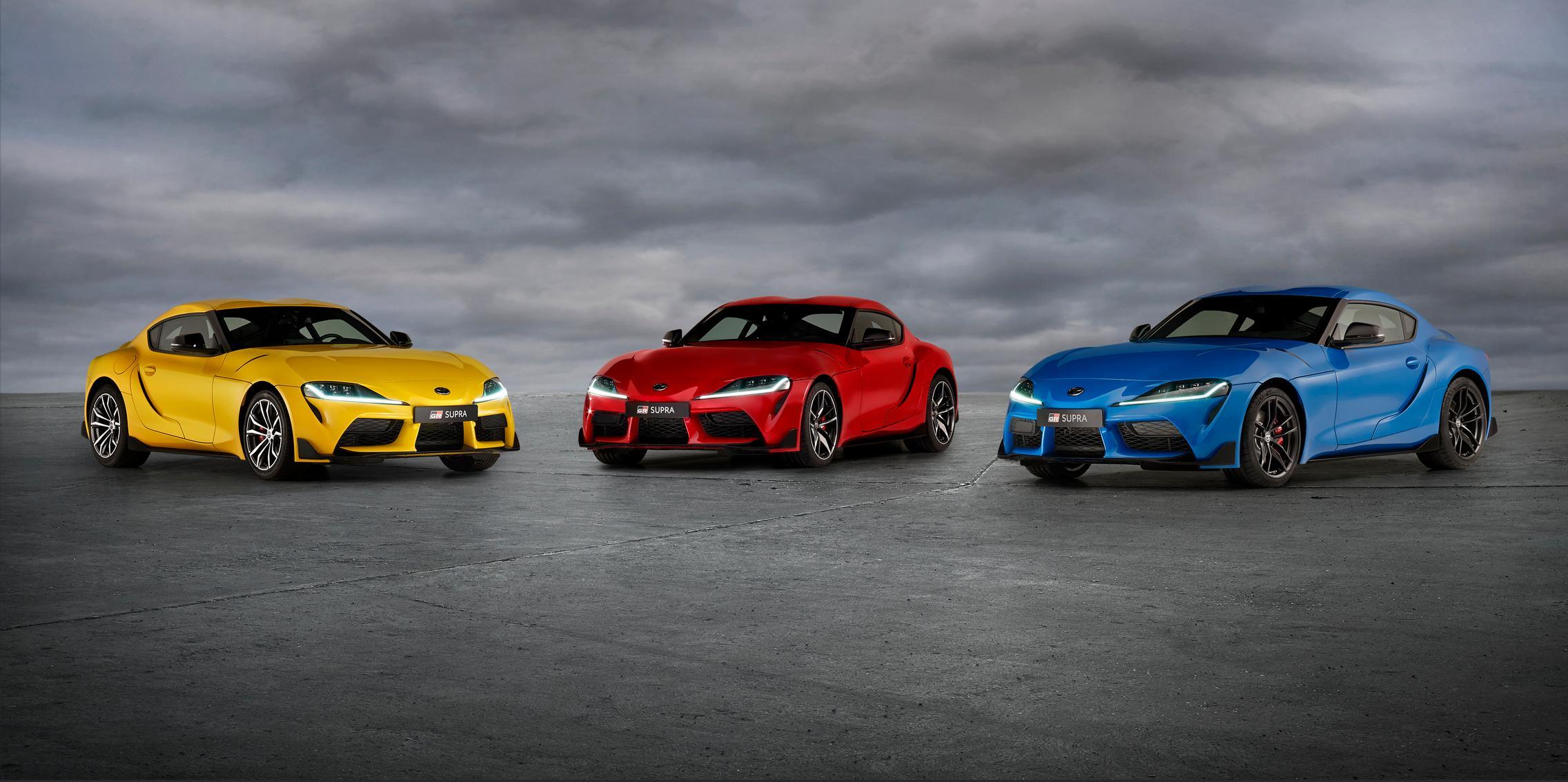 Toyota GR Supra colors