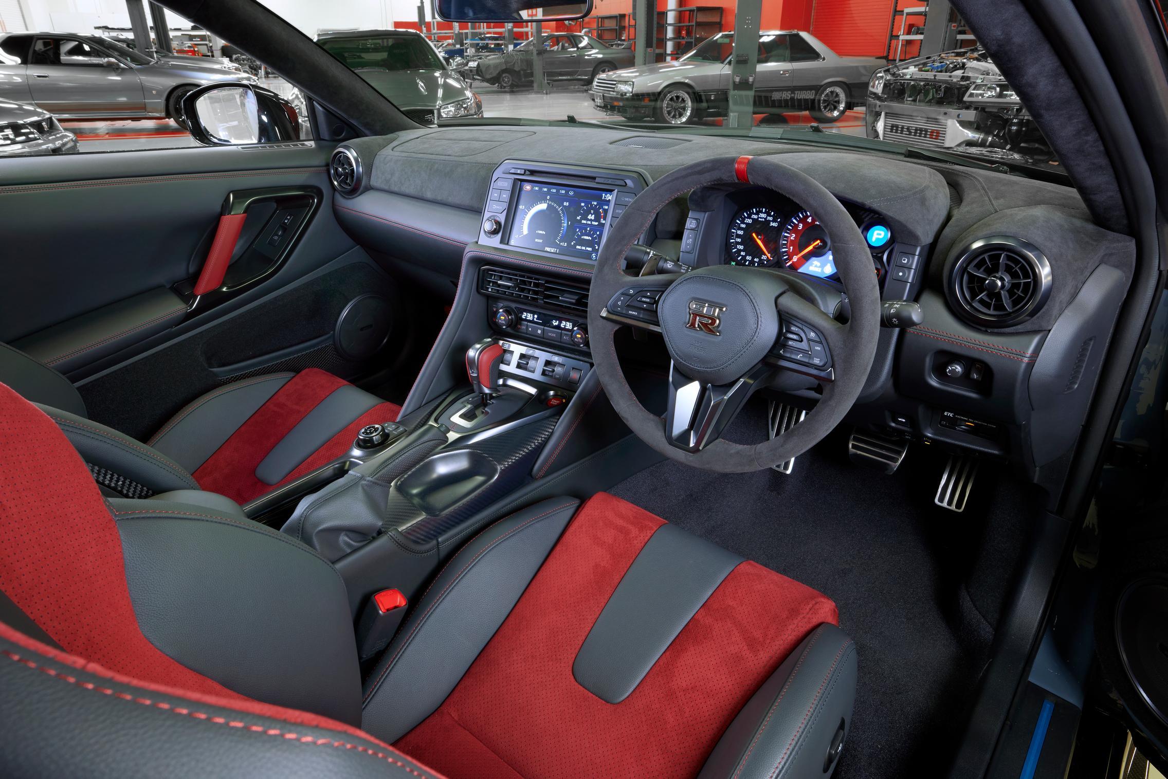 2022 Nissan GT-R Nismo interior