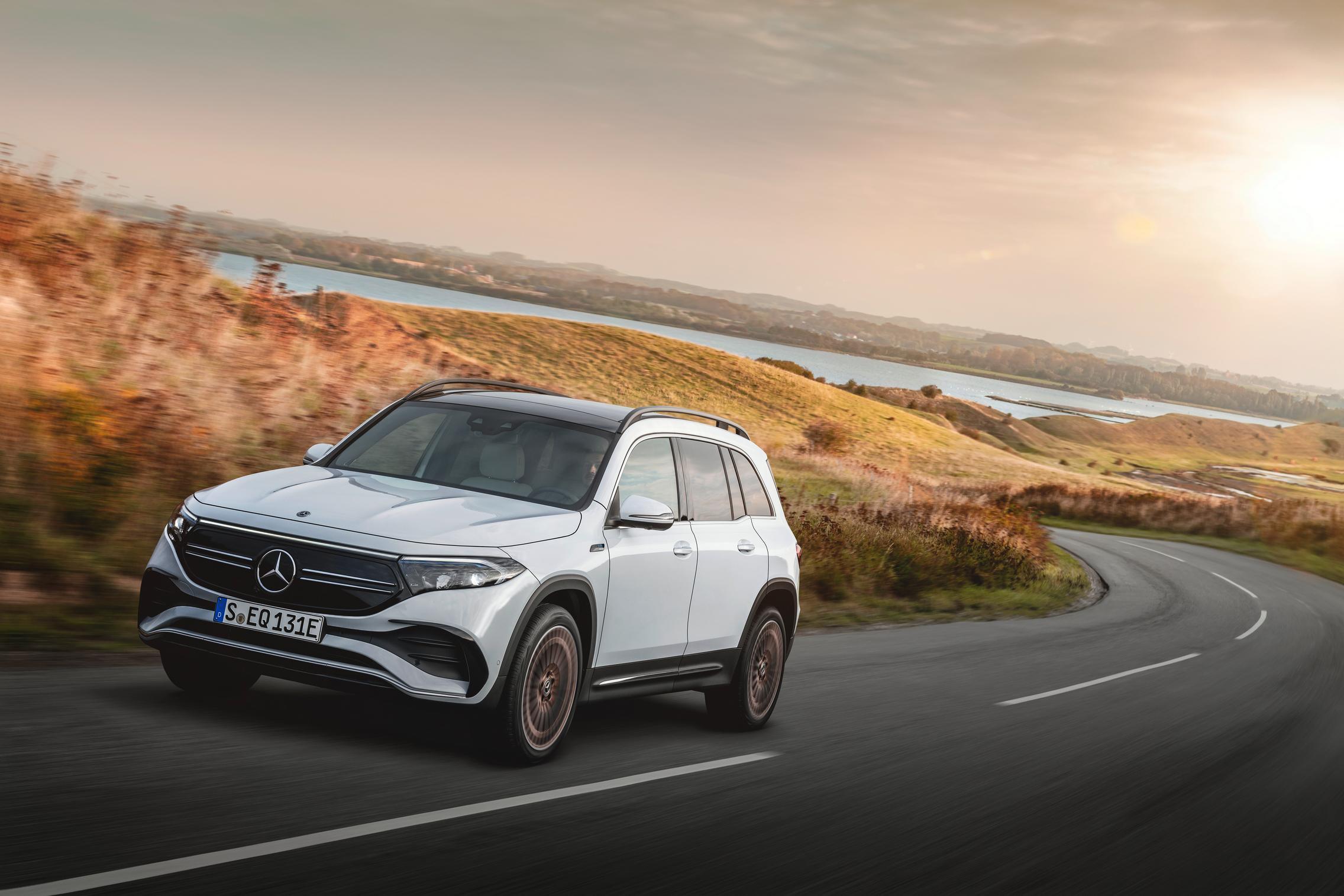 Digital White Mercedes-Benz EQB