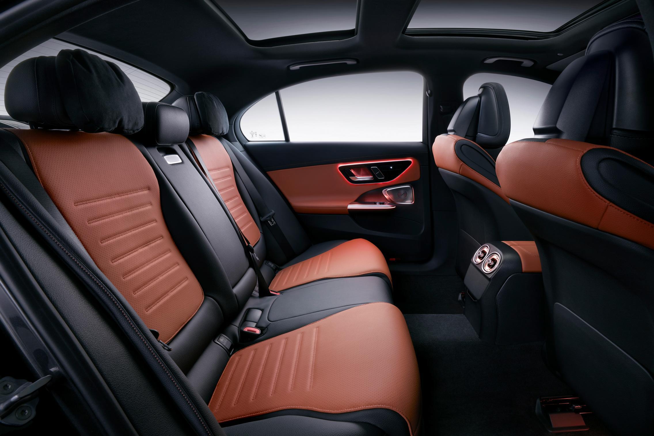 Mercedes C-Class LWB rear seats