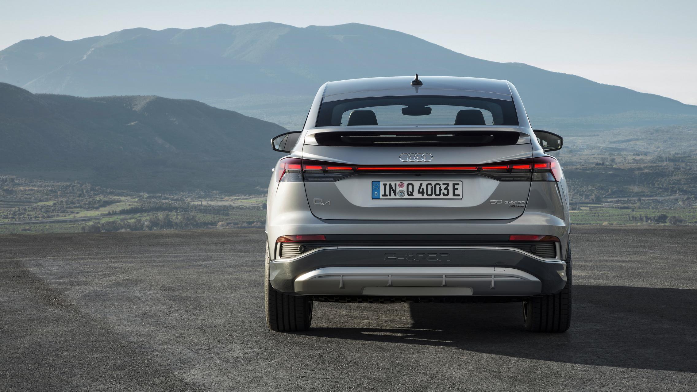 Audi Q4 Sportback e-tron rear lights